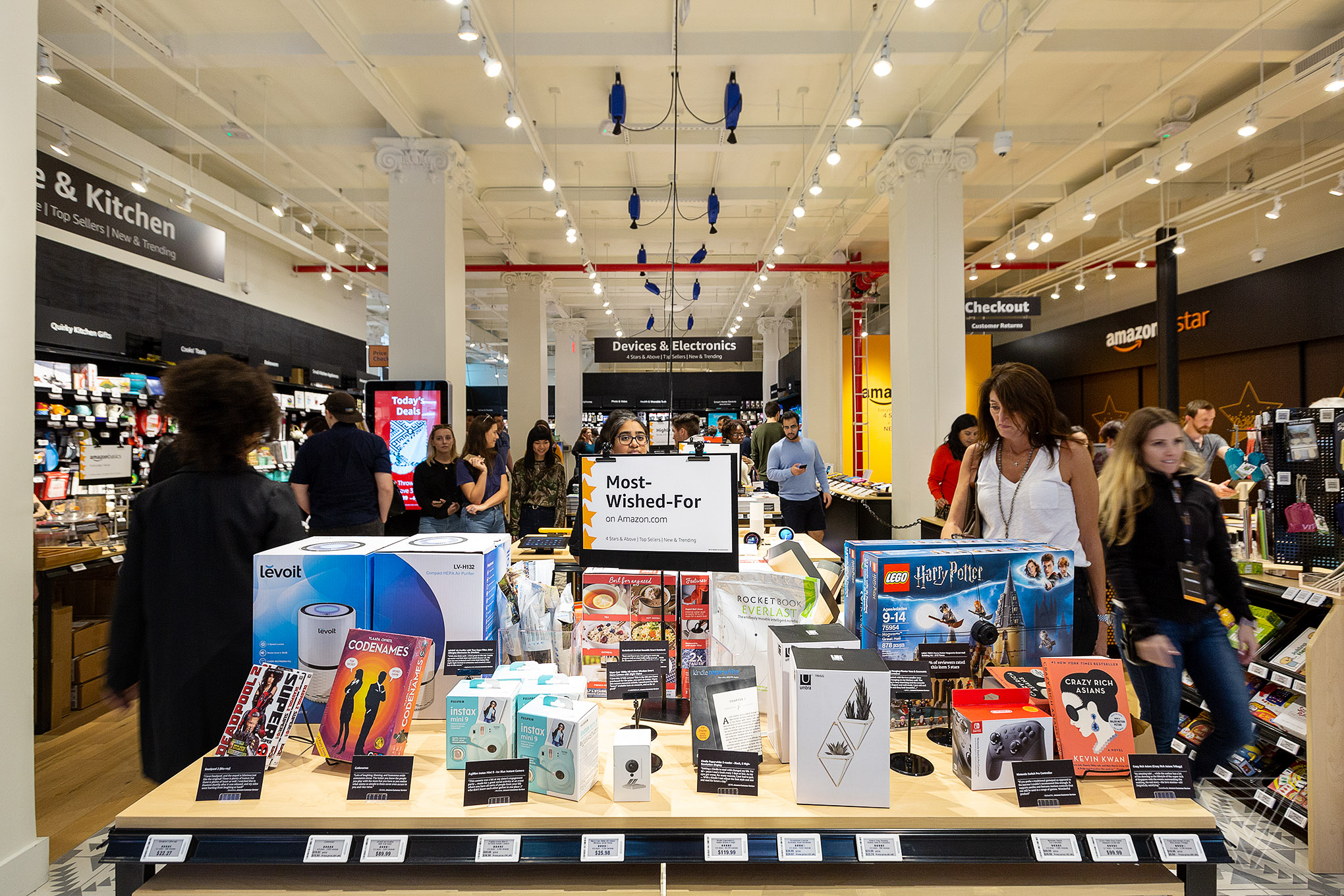 Opening day at the Amazon 4-Star brick and mortar store located in Soho in New York City.
