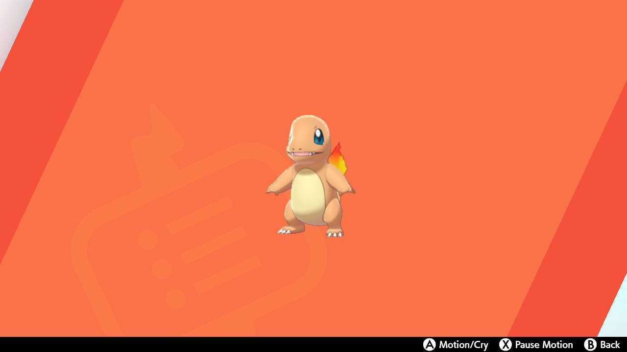 Charmander in Pokémon Sword and Shield