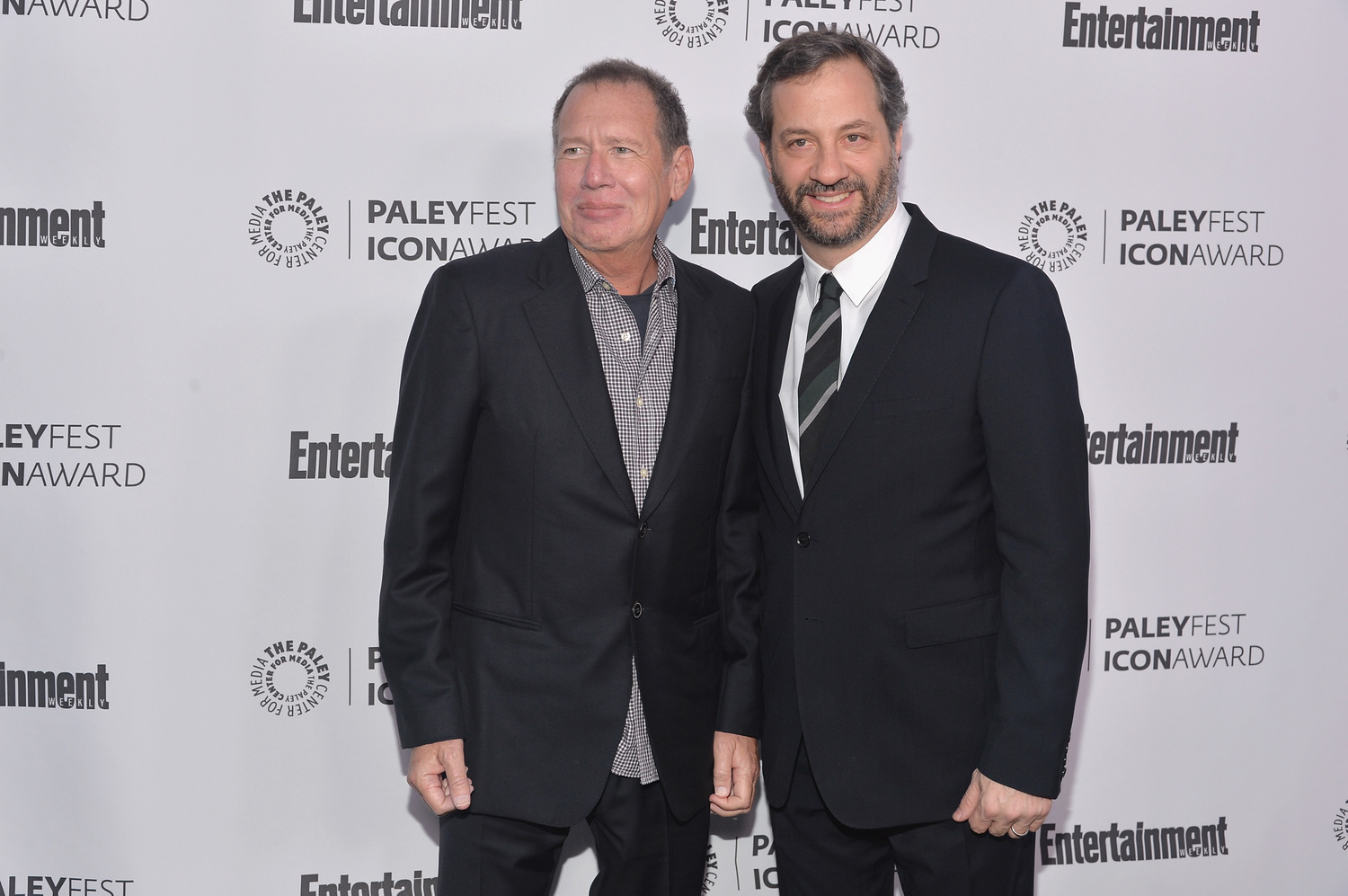 Gary Shandling and Judd Apatow in March 2014.