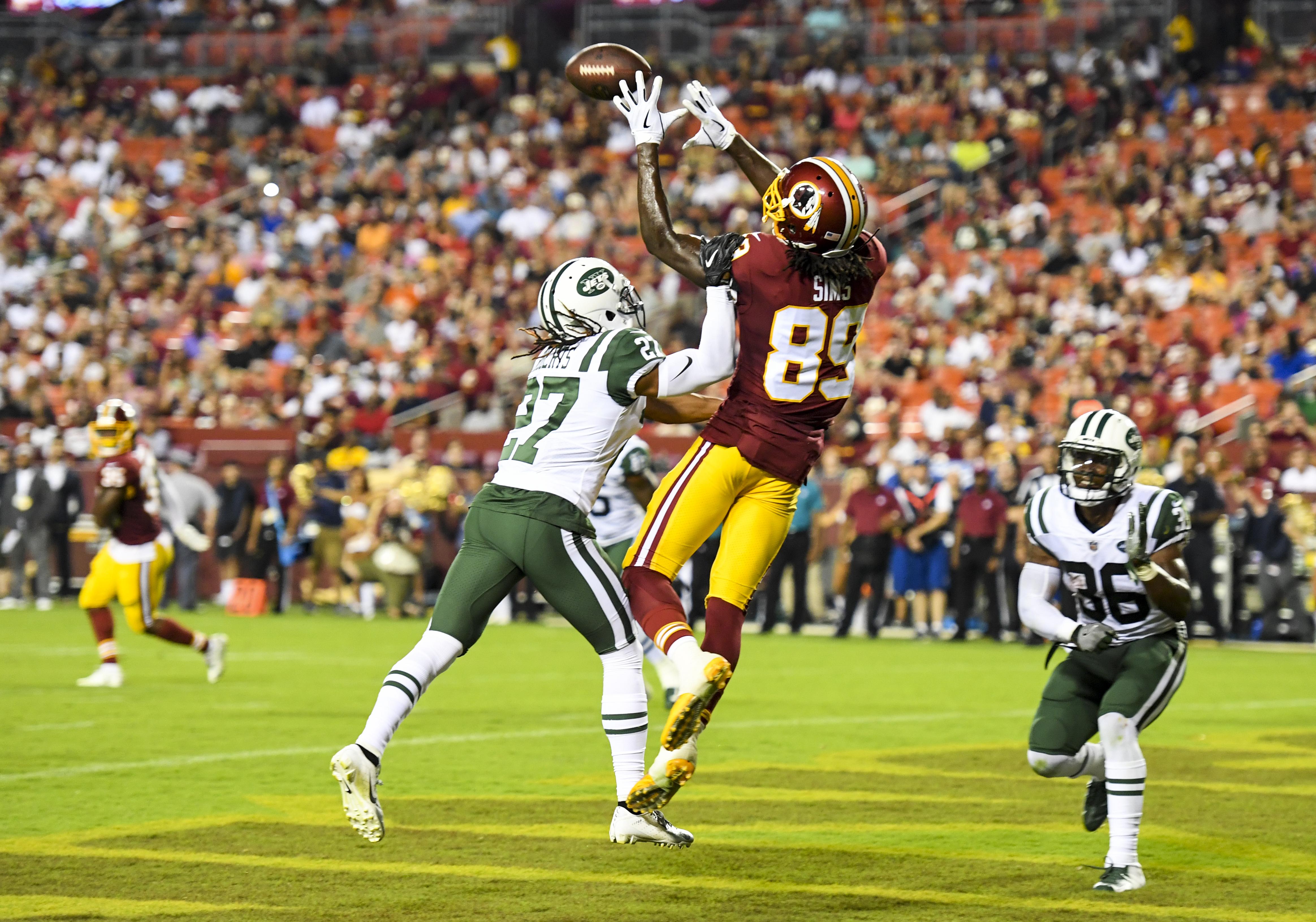 Preseason football. New York Jets at Washington Redskins