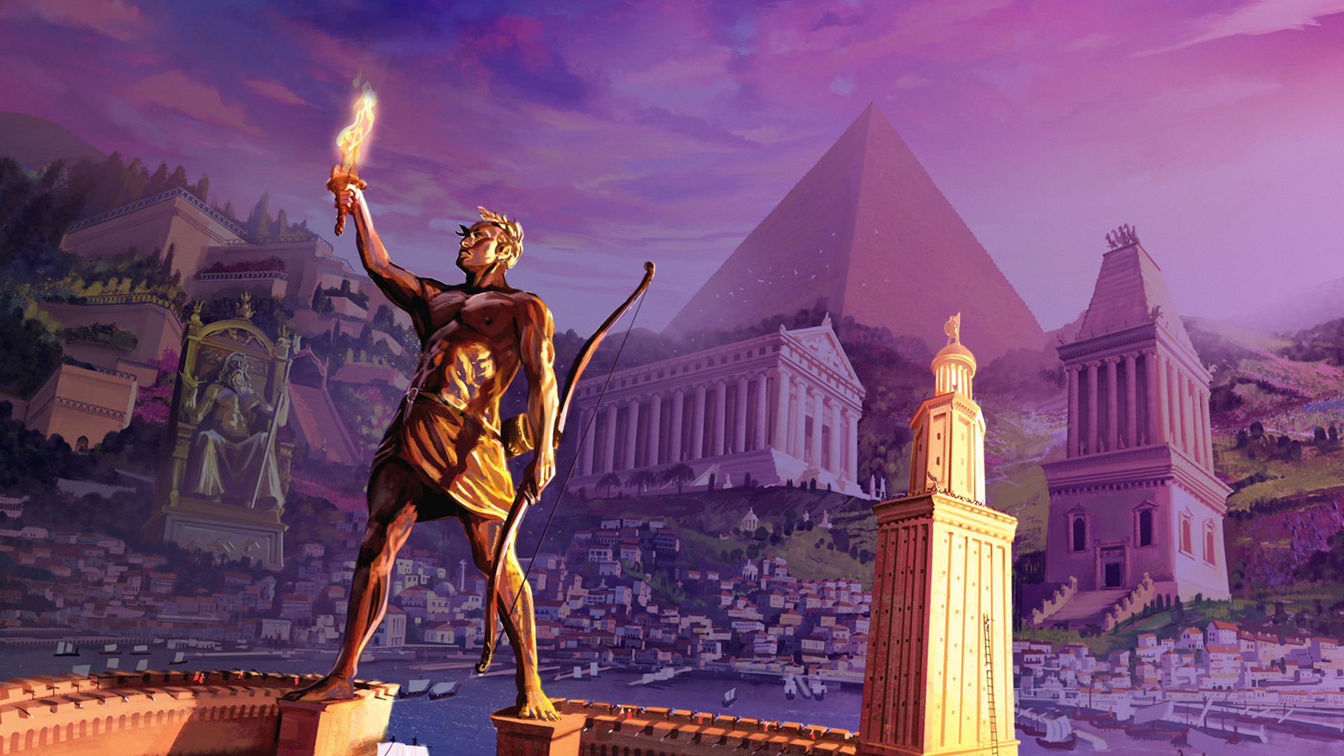 "Cover of "" 7 Wonders board game"