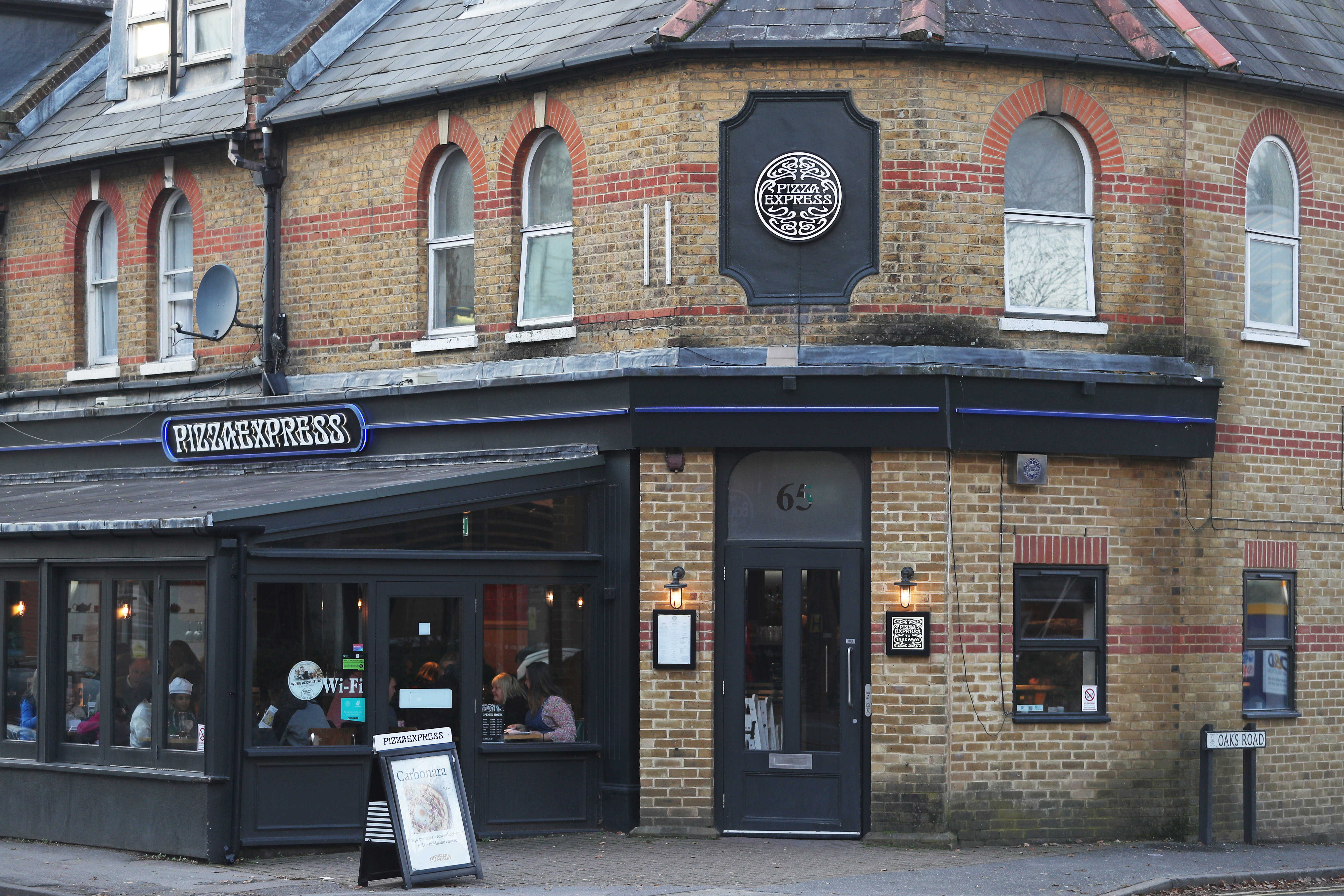 Prince Andrew's favourite Pizza Express in Woking