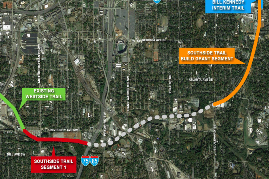 Beltline denied federal grant to fund Southside Trail construction