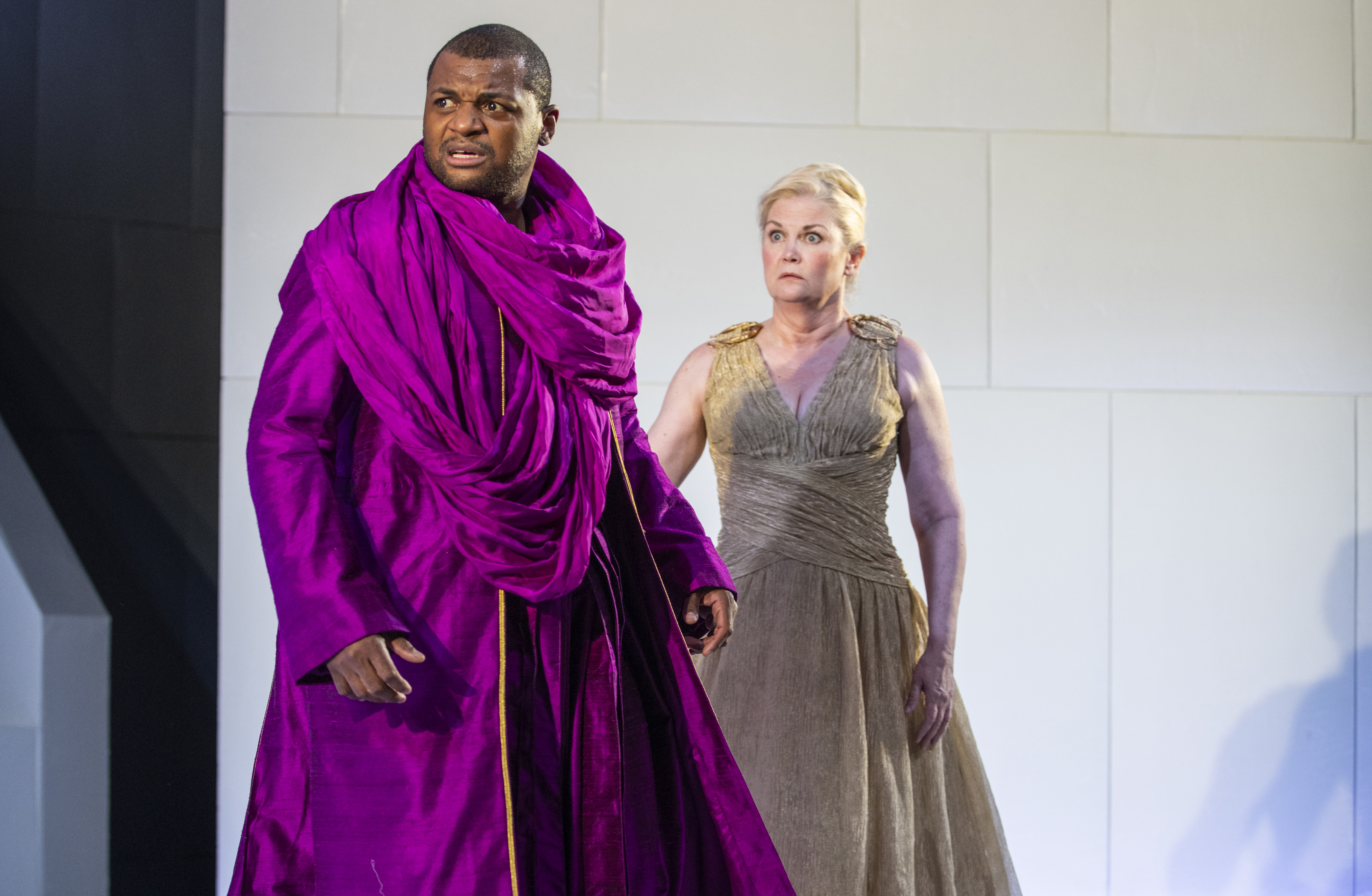 "Kelvin Roston Jr. delivers at tour de force as Oedipus and Kate Collins is enthralling as Jocasta in Court Theatre's production of ""Oedipus Rex."""