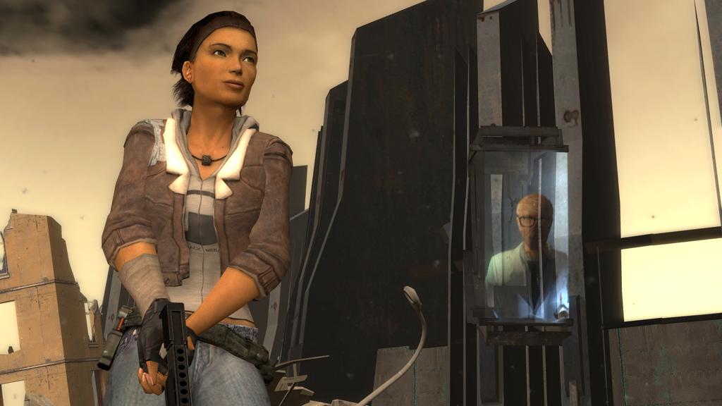 Alyx Vance in a screenshot taken from Half-Life 2