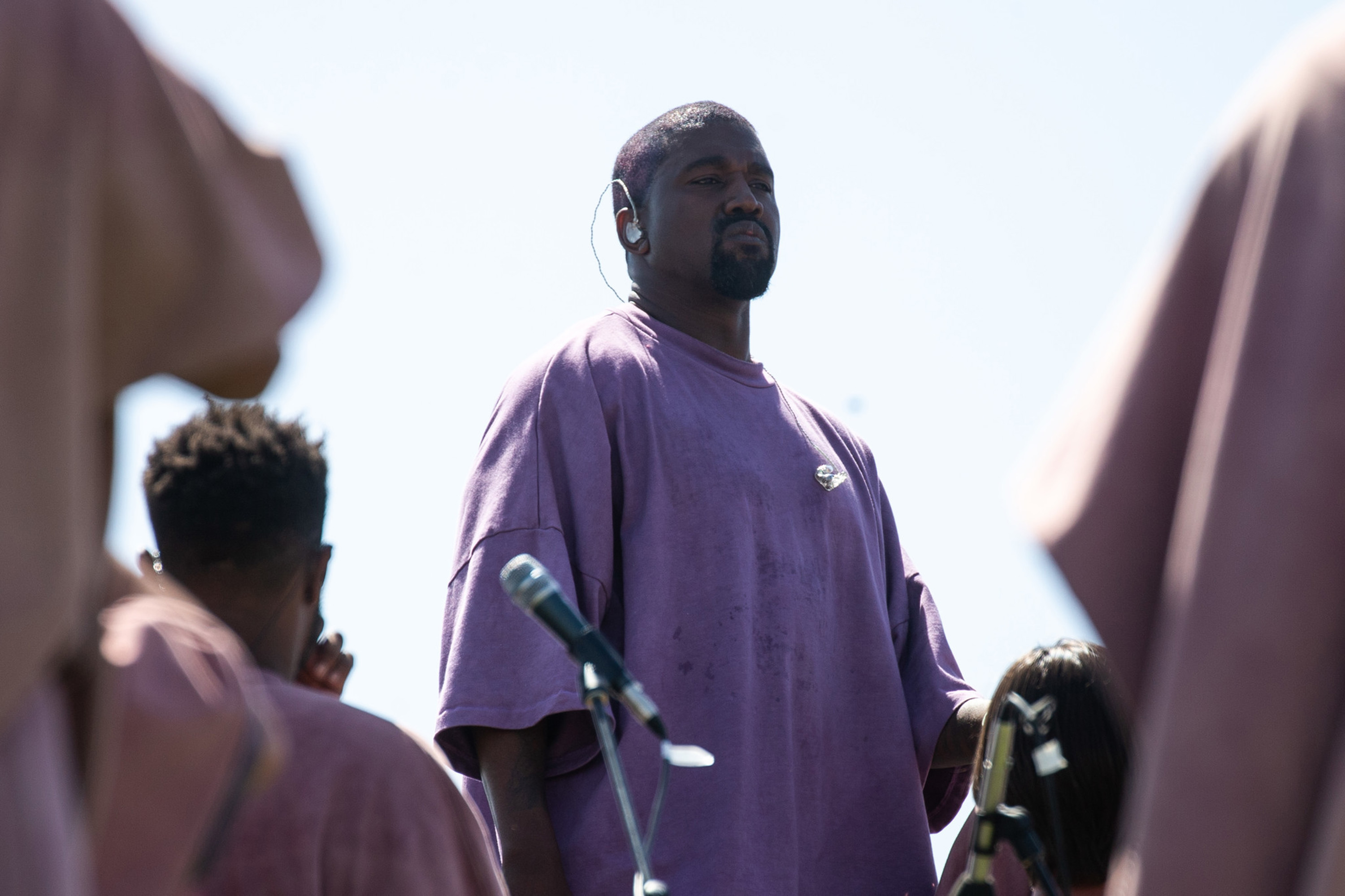 Kanye West, pictured at Coachella in April, presented a playback of his new album and film Oct. 23 at the Forum. (Kent Nishimura/Los Angeles Times/TNS)