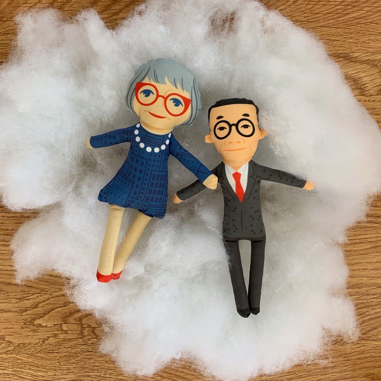 Jane Jacobs and I.M. Pei dolls
