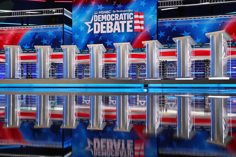 MSNBC And The Washington Post Prepare To Host The 5th Democratic Presidential Primary Debate In Atlanta