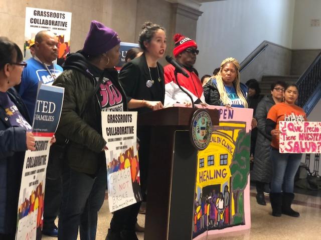 Emma Tai, executive director of United Working Families, urges aldermen to vote against Mayor Lori Lightfoot's $11.65 billion budget.