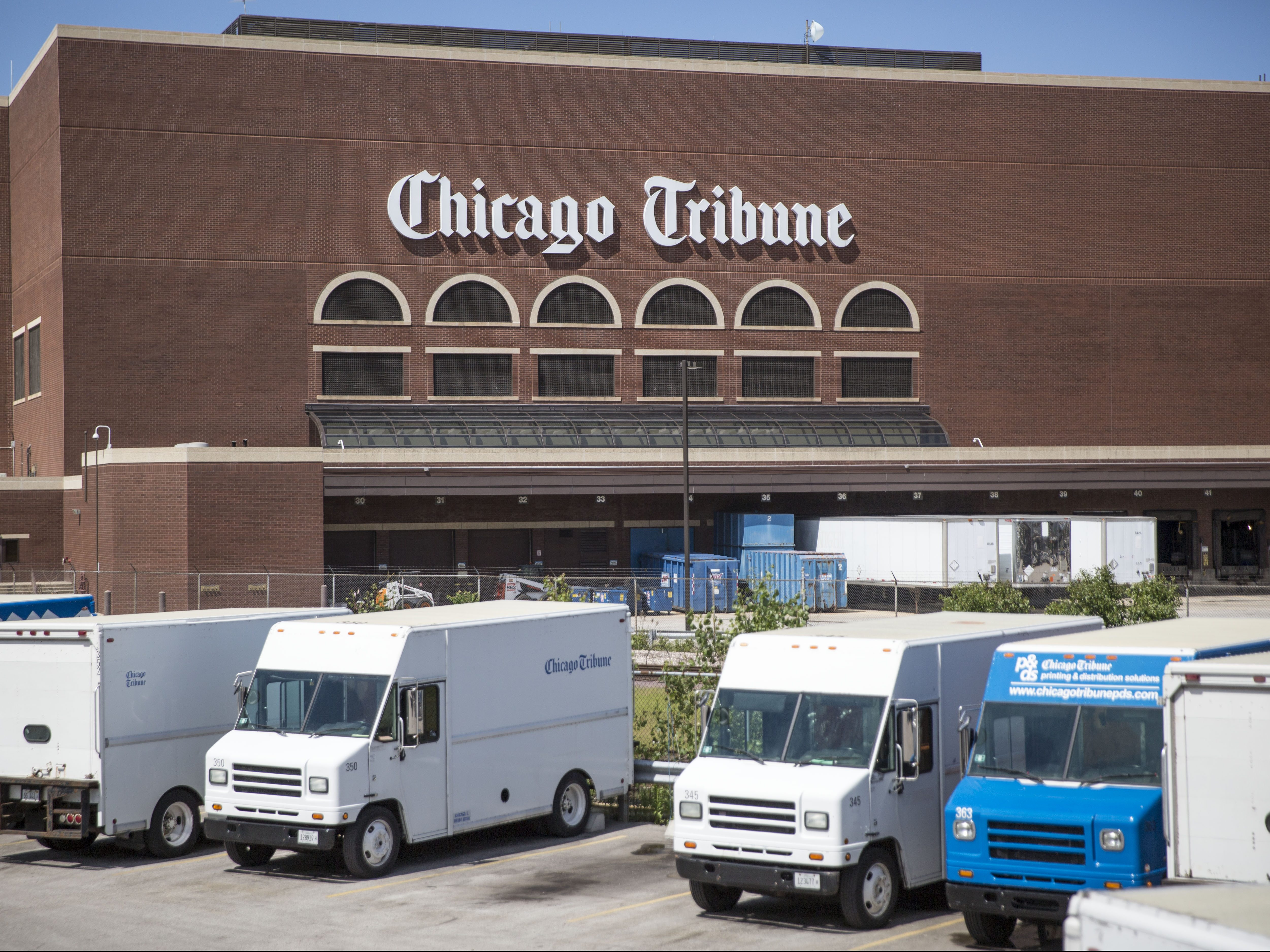 The Chicago Tribune Freedom Center printing plant, at 777 W. Chicago Ave. | Sun-Times file photo