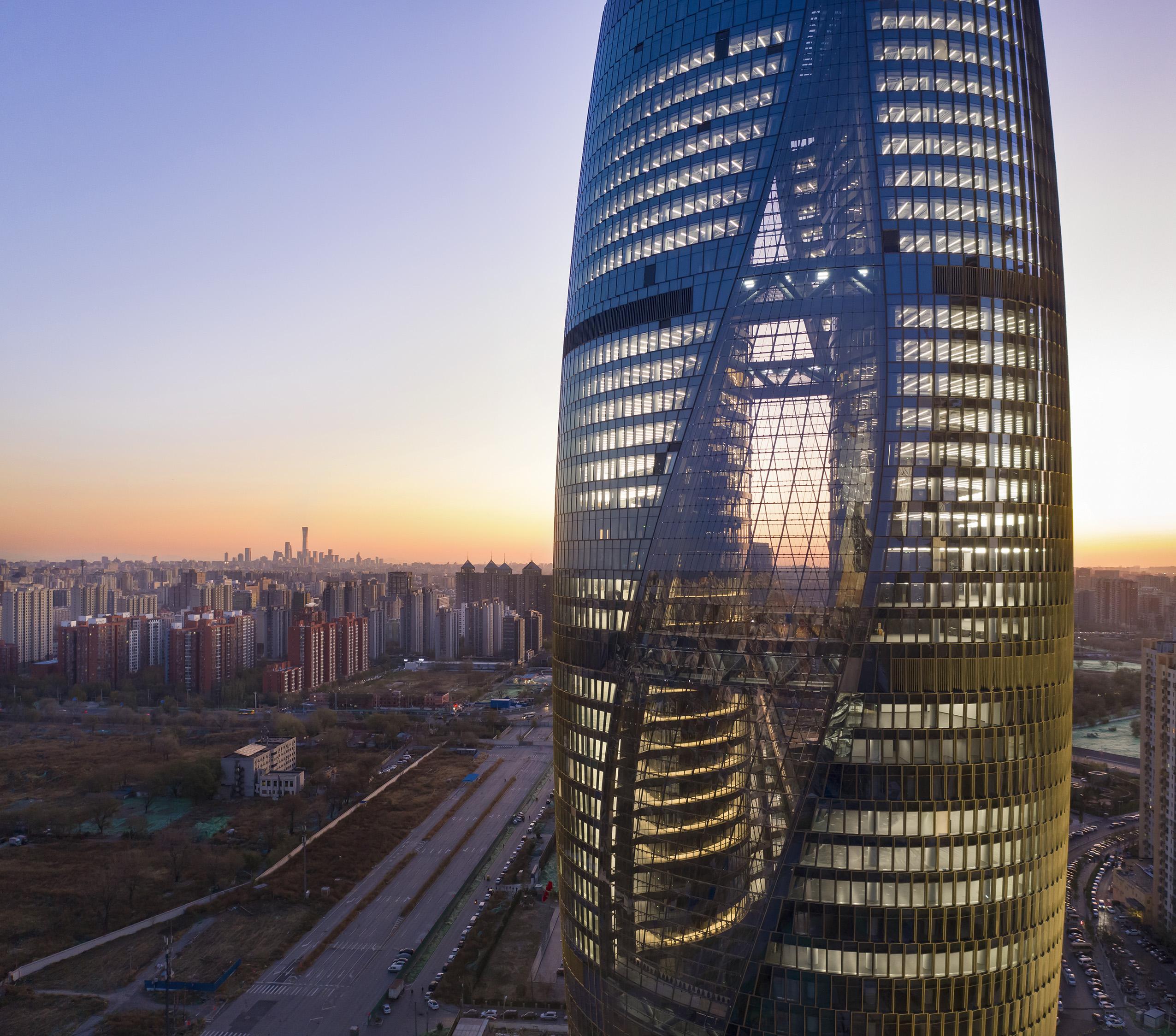 Zaha Hadid Architects' new tower shows off world's tallest atrium