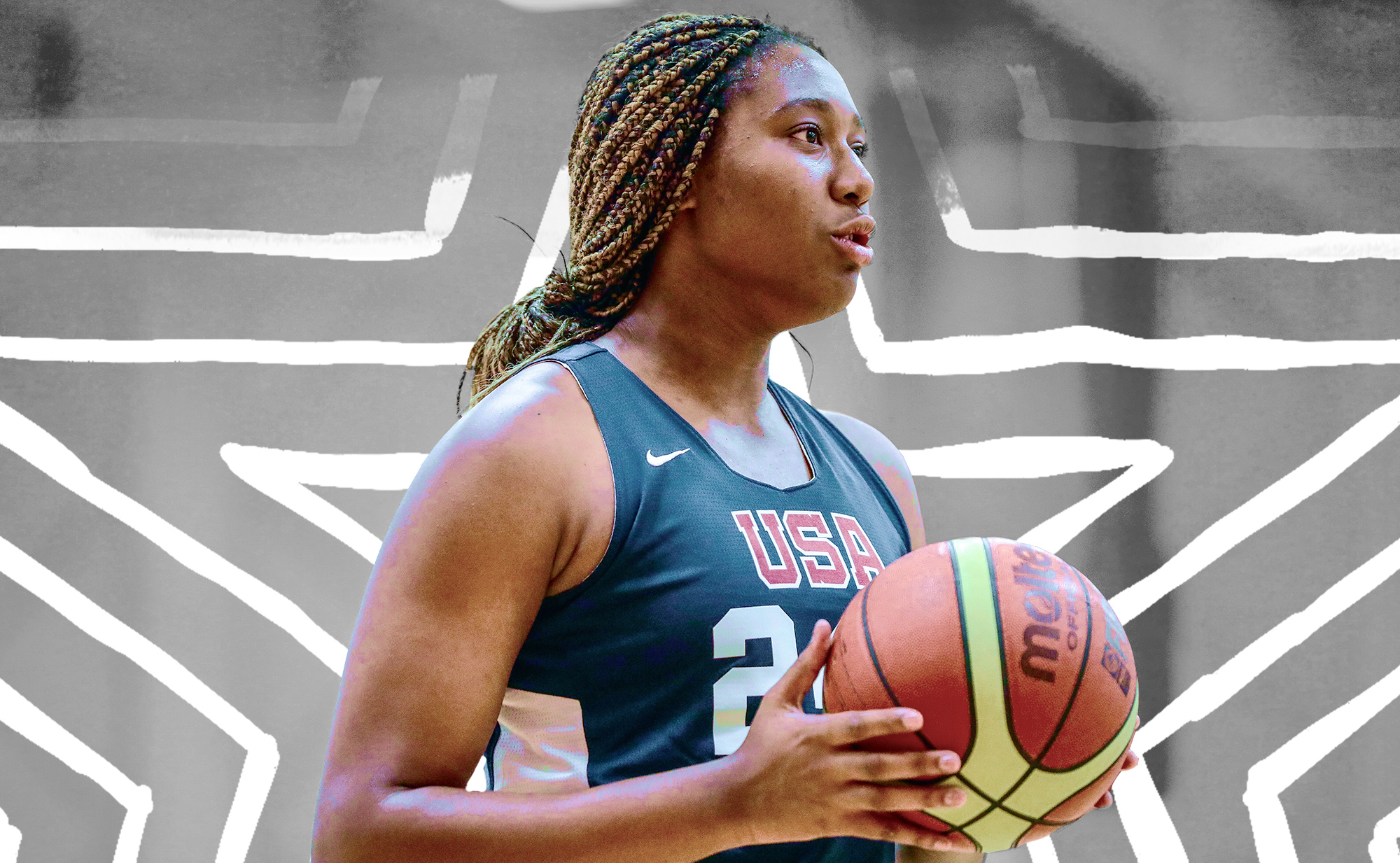 South Carolina women's basketball player Aliyah Boston played for Team USA Under-19.