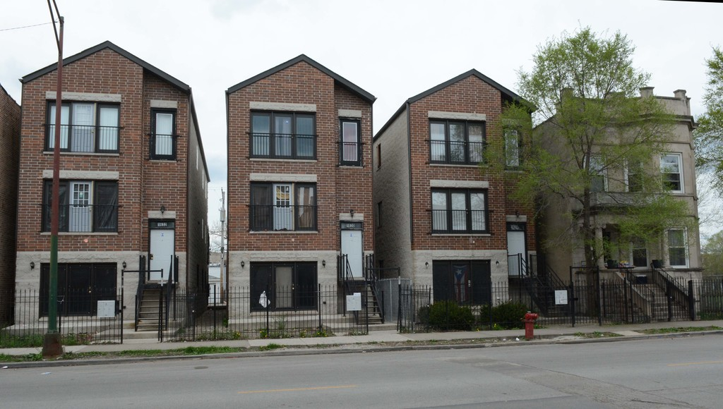 Apartment buildings on the West Side of Chicago. File Photo.