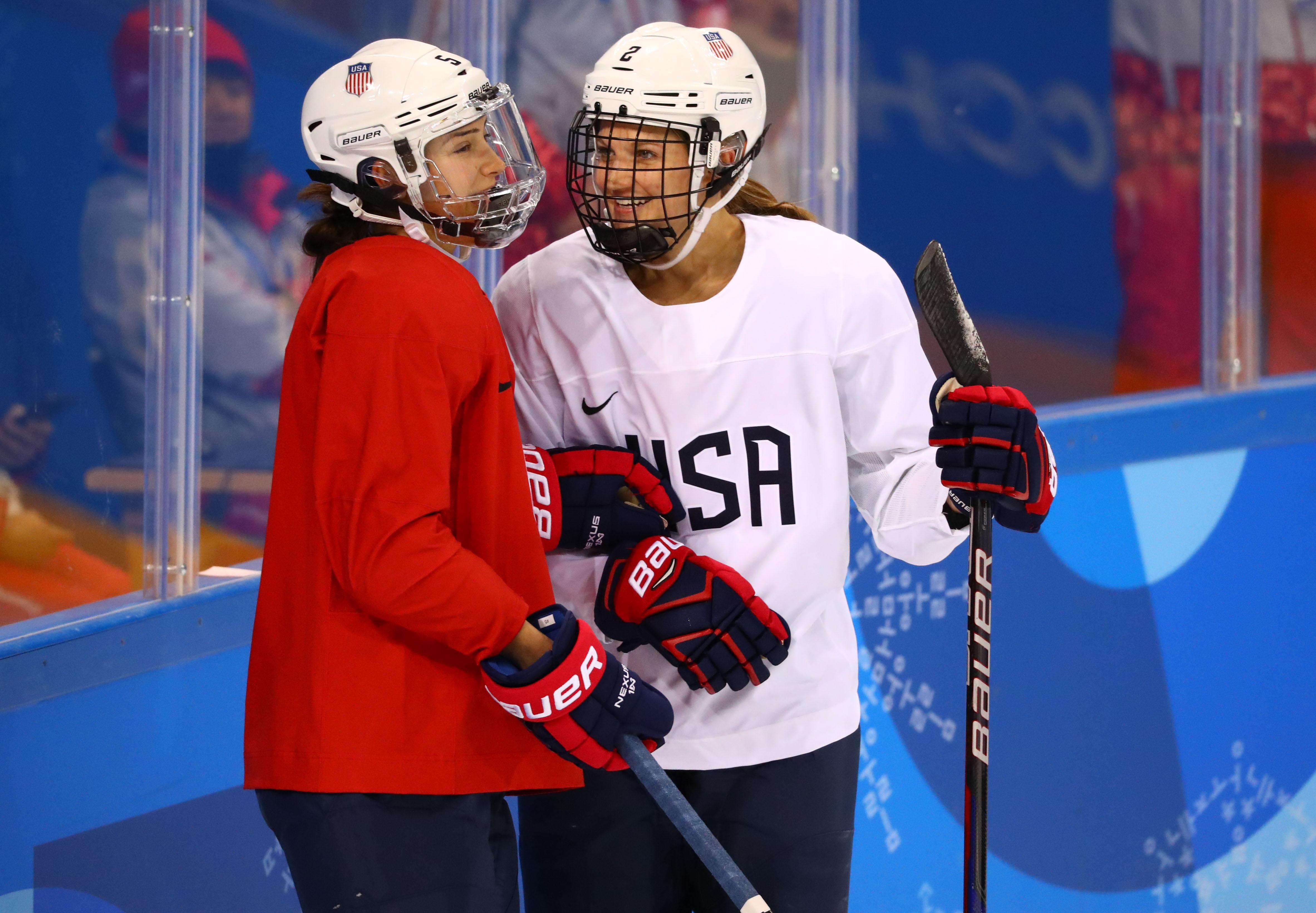 Olympics: Women's Ice Hockey Training