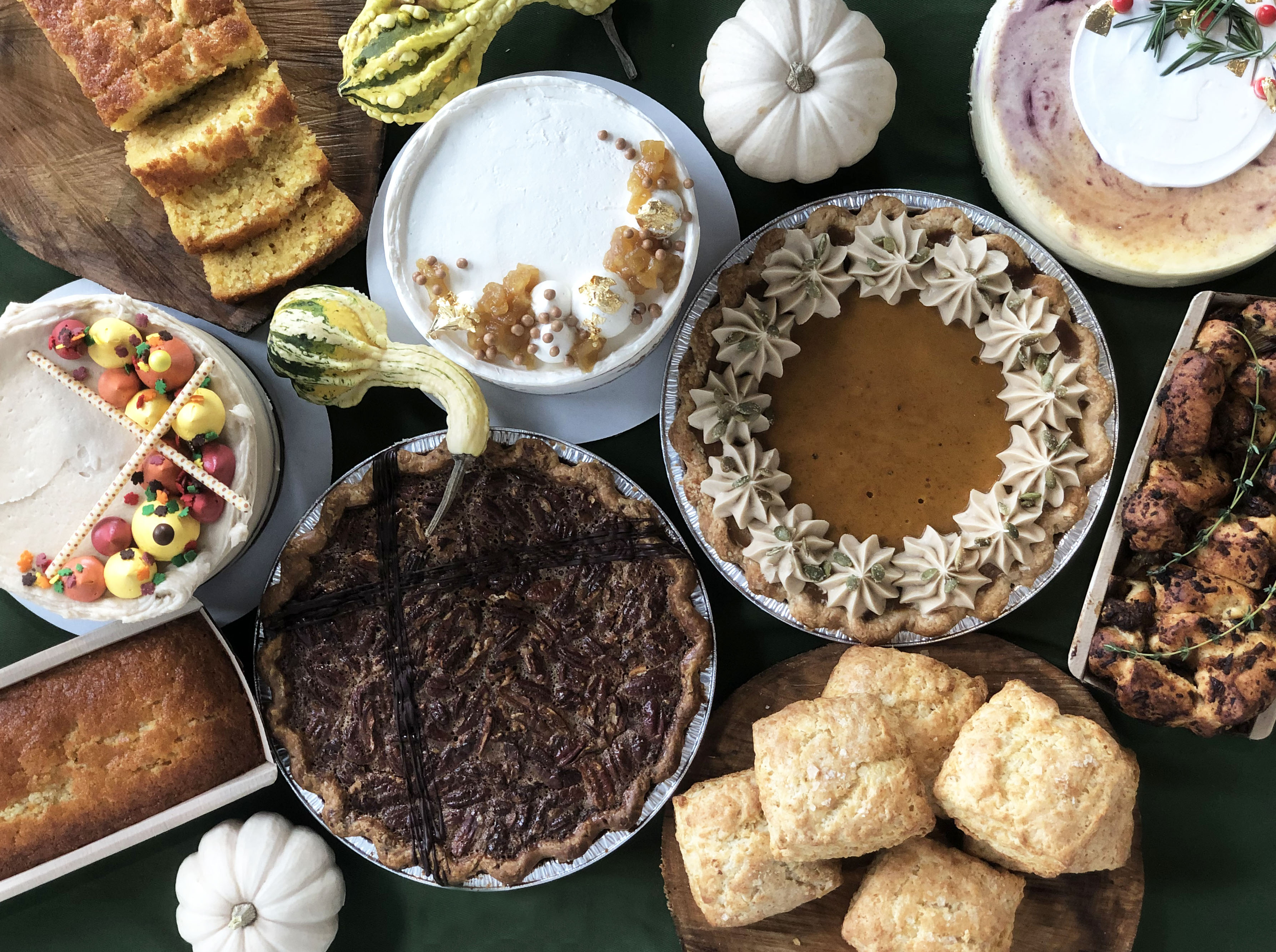 autumnal looking pies and cakes