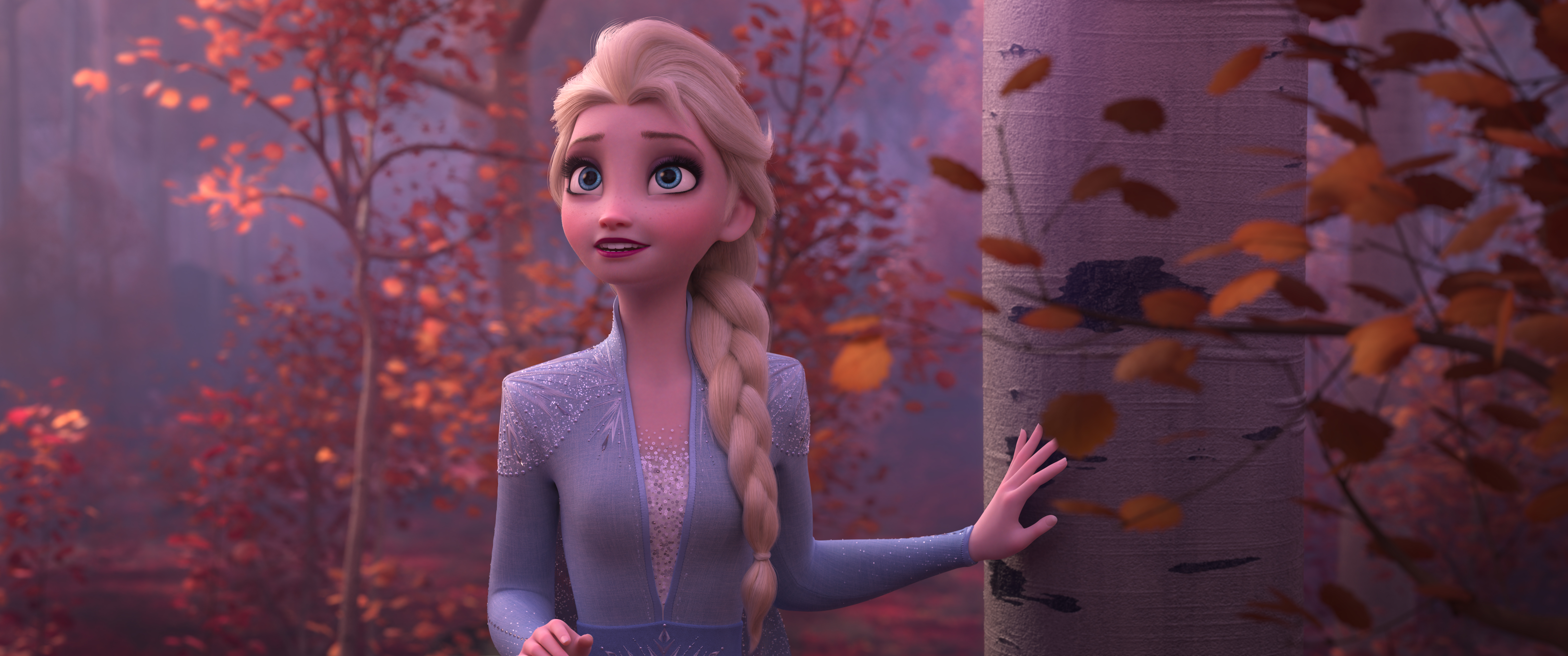 Elsa seems about to burst into song in Frozen 2.