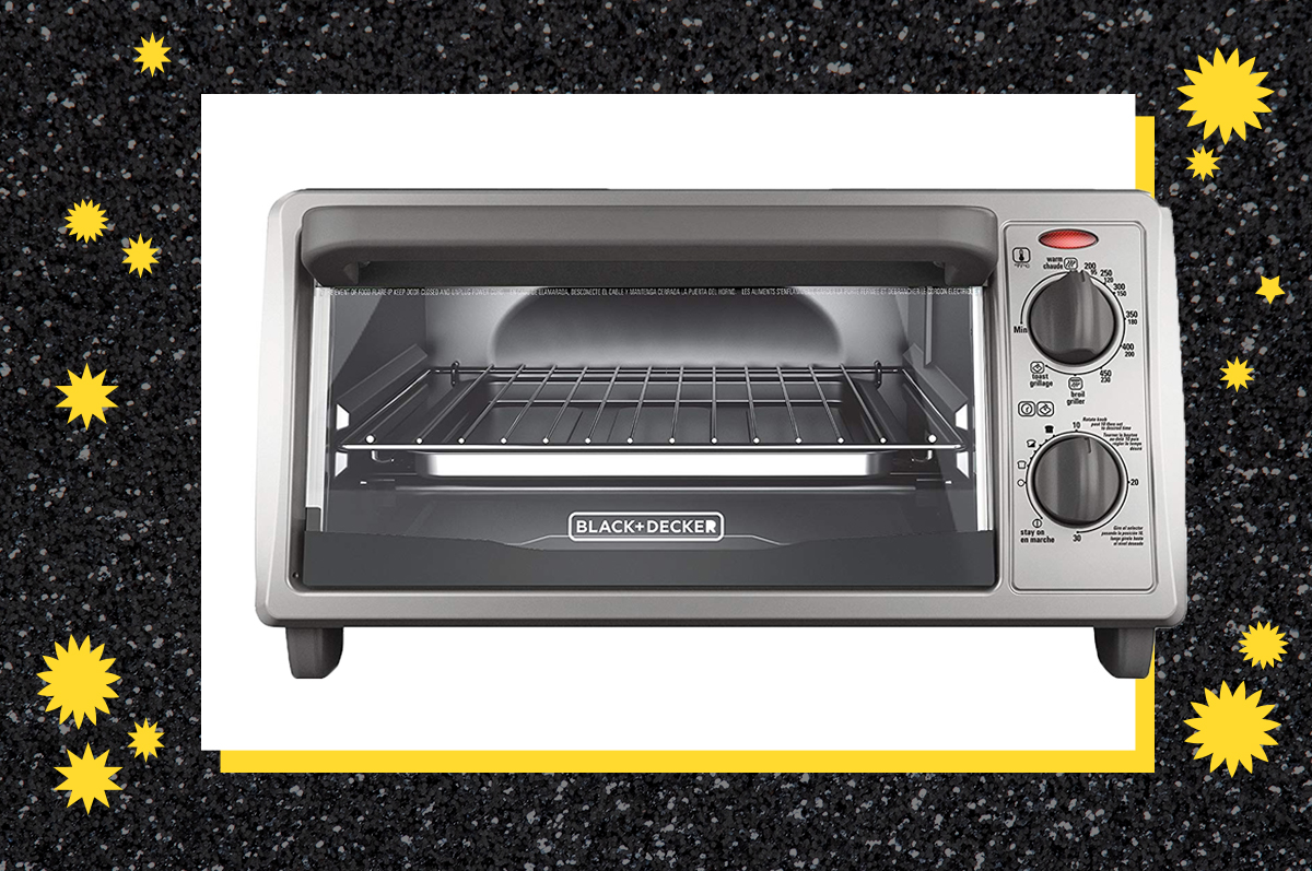 A toaster oven.