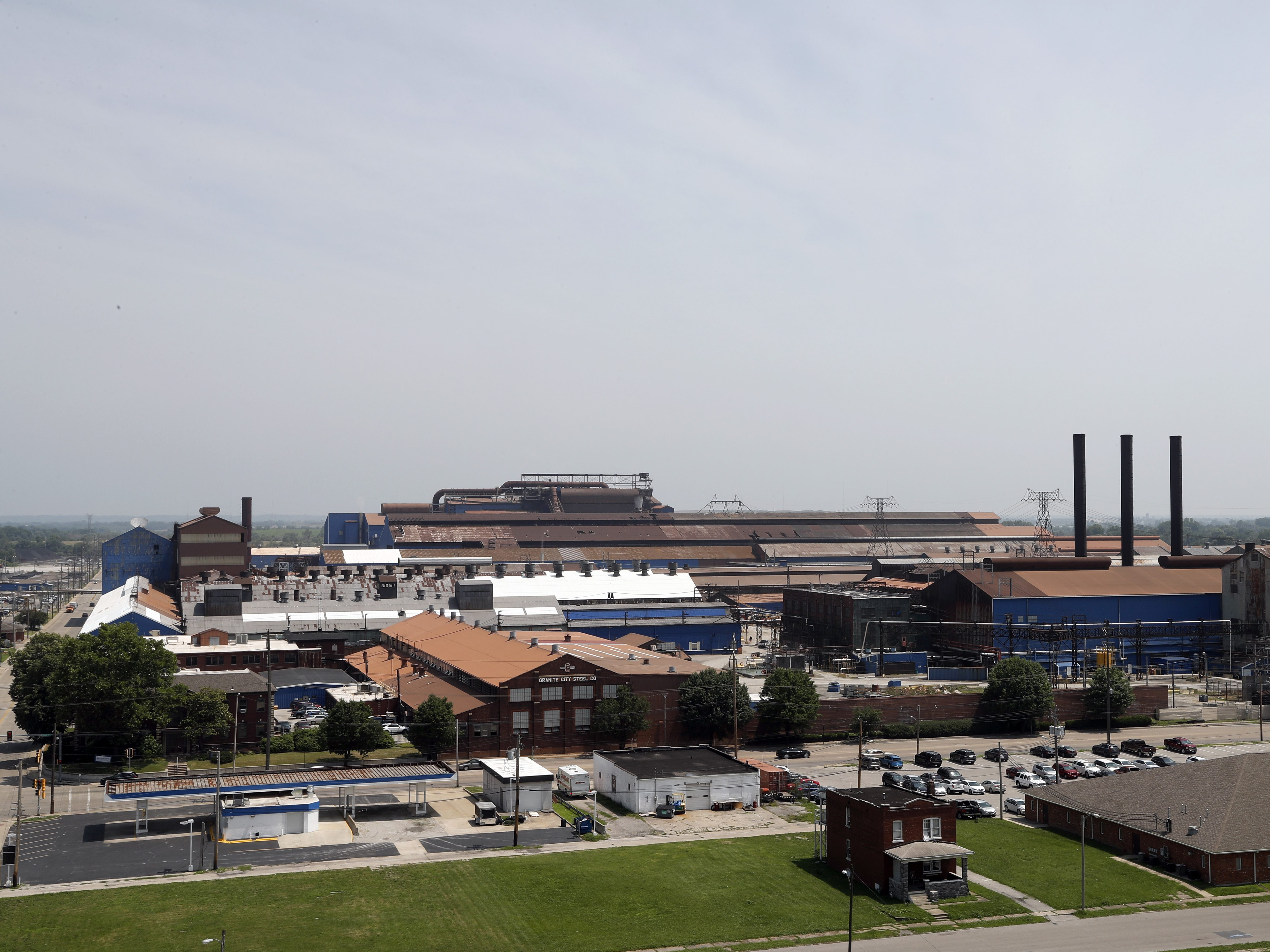 The U.S. Steel Granite City Works facility, after being shut down for roughly two years, recently restarted an idle blast furnace. | AP Photo/Jeff Roberson