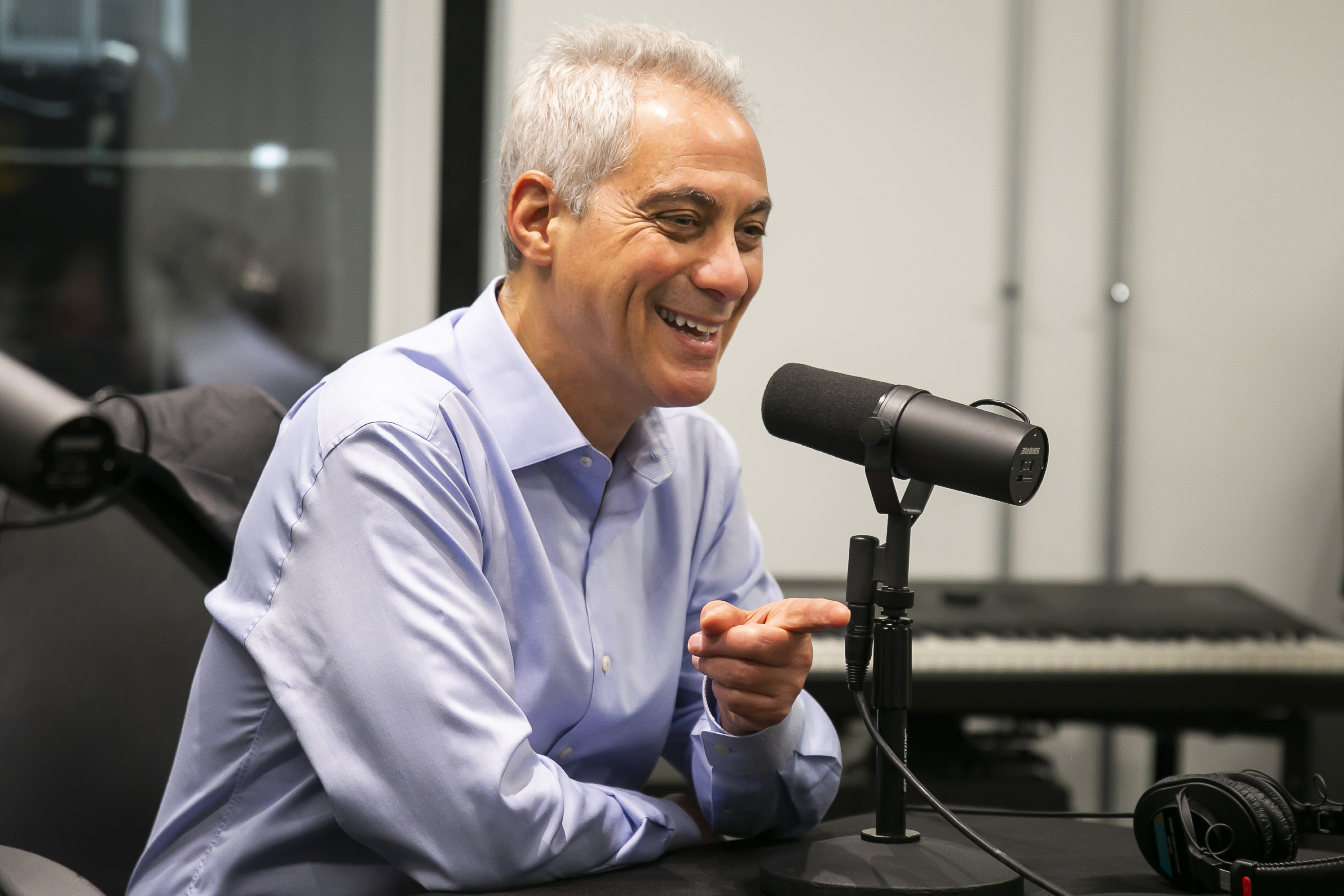 Former Chicago Mayor Rahm Emanuel during a Sun-Times interview.