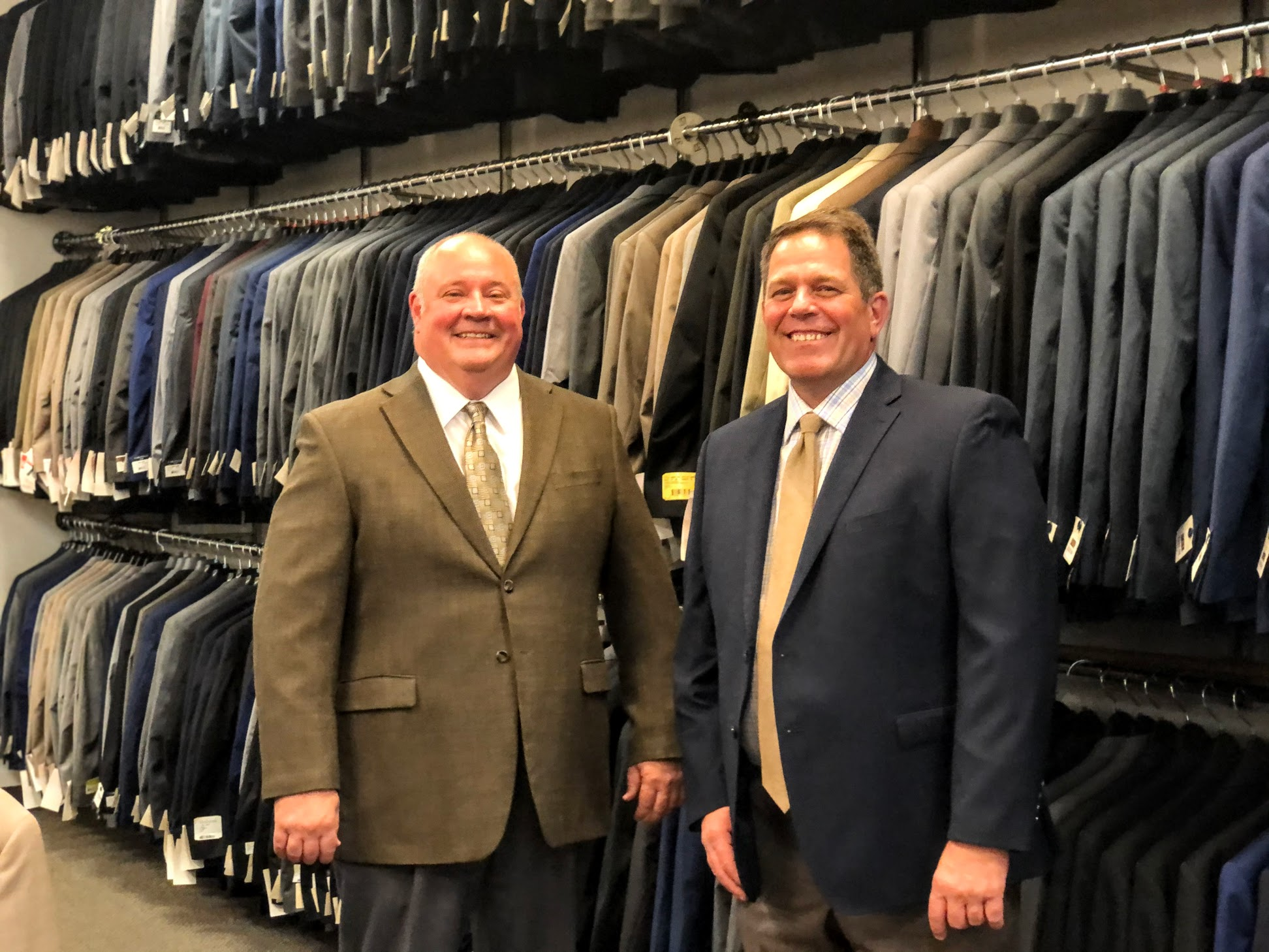 Spencer, left, and Stuart Christensen are pictured at the Mr. Mac flagship store in City Creek Center.