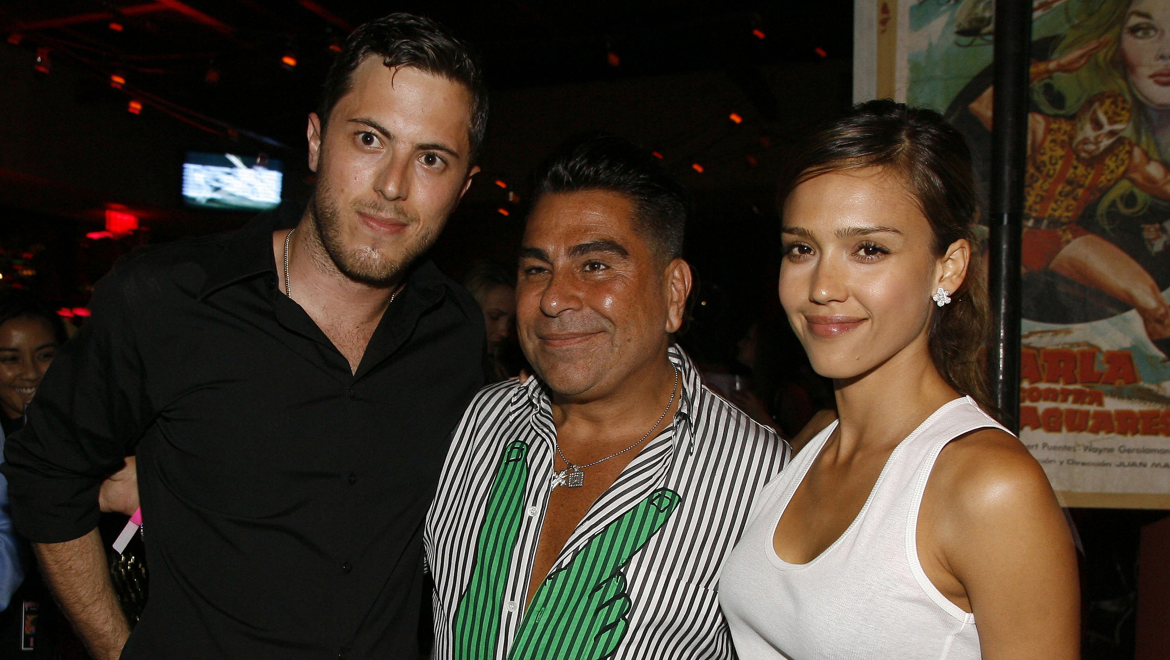 In this 2007 file photo, Harry Morton (from left), Luis Barajas (founder of Flaunt magazine) and Jessica Alba are seen at the opening of the Pink Taco restaurant in Los Angeles.