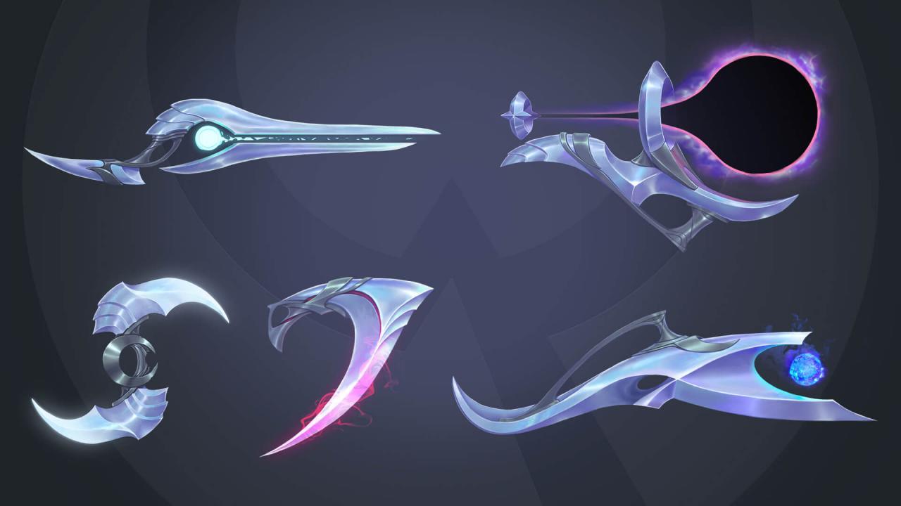 Aphelios' weapons