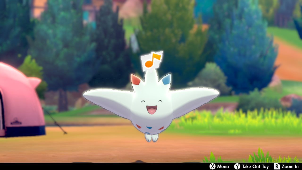 Togekiss happily cheers at the Pokémon Camp