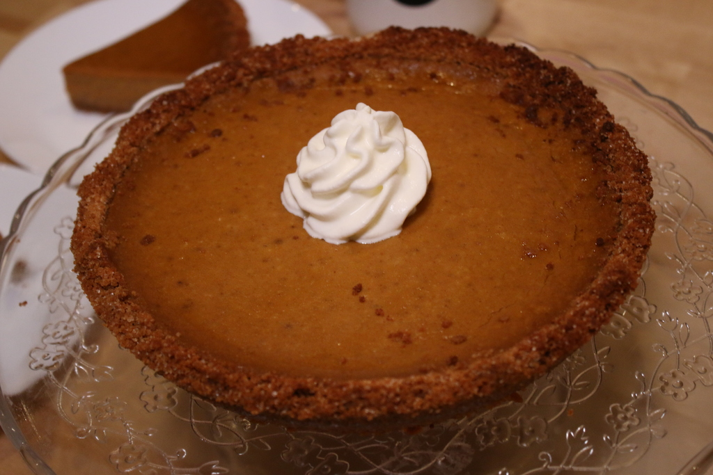 Pumpkin pie made at Baker Miller.