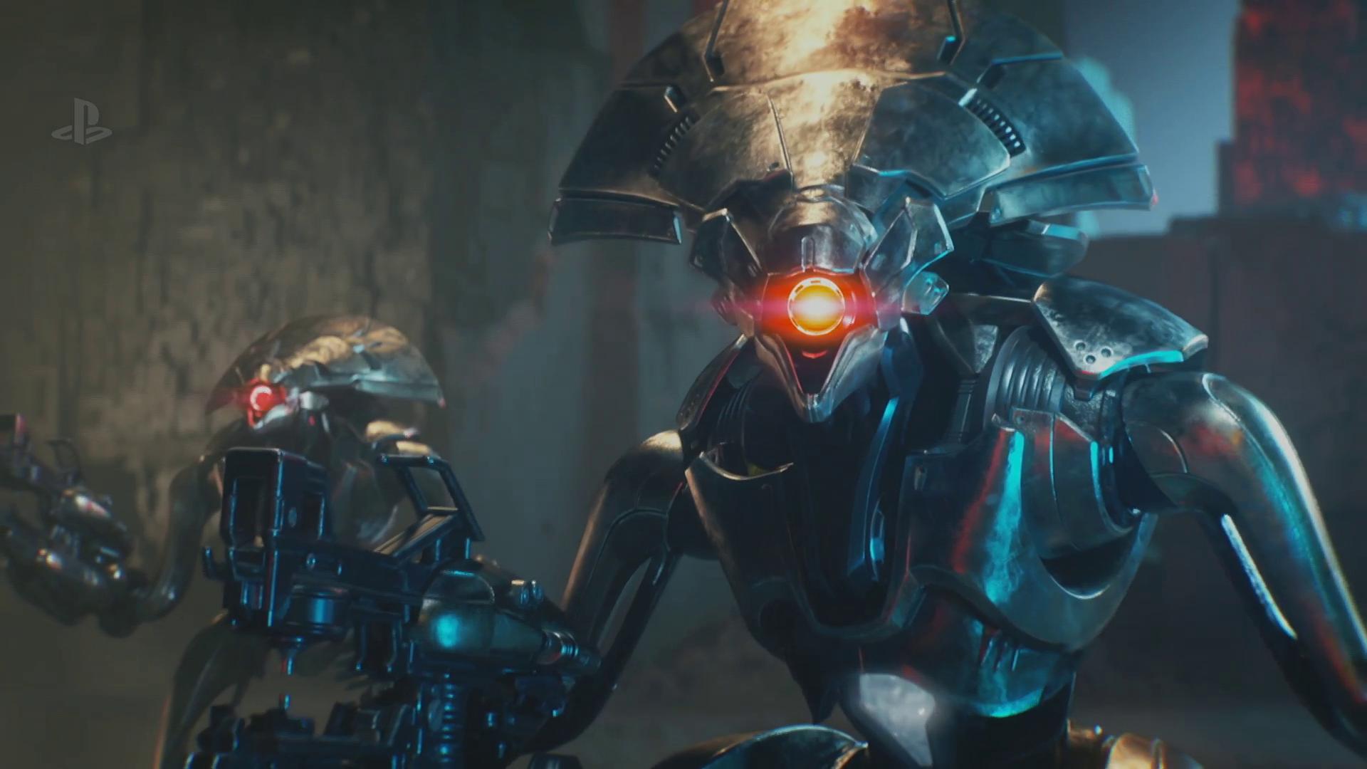 two Vex robots in Destiny 2