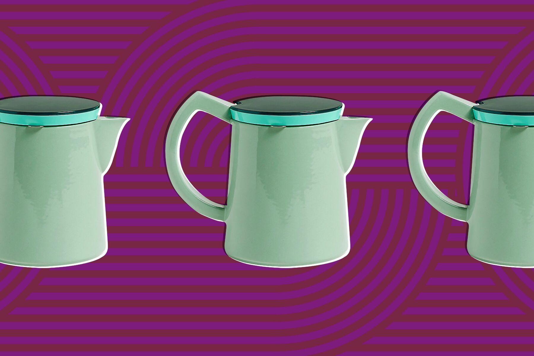 Mint green coffee pot.