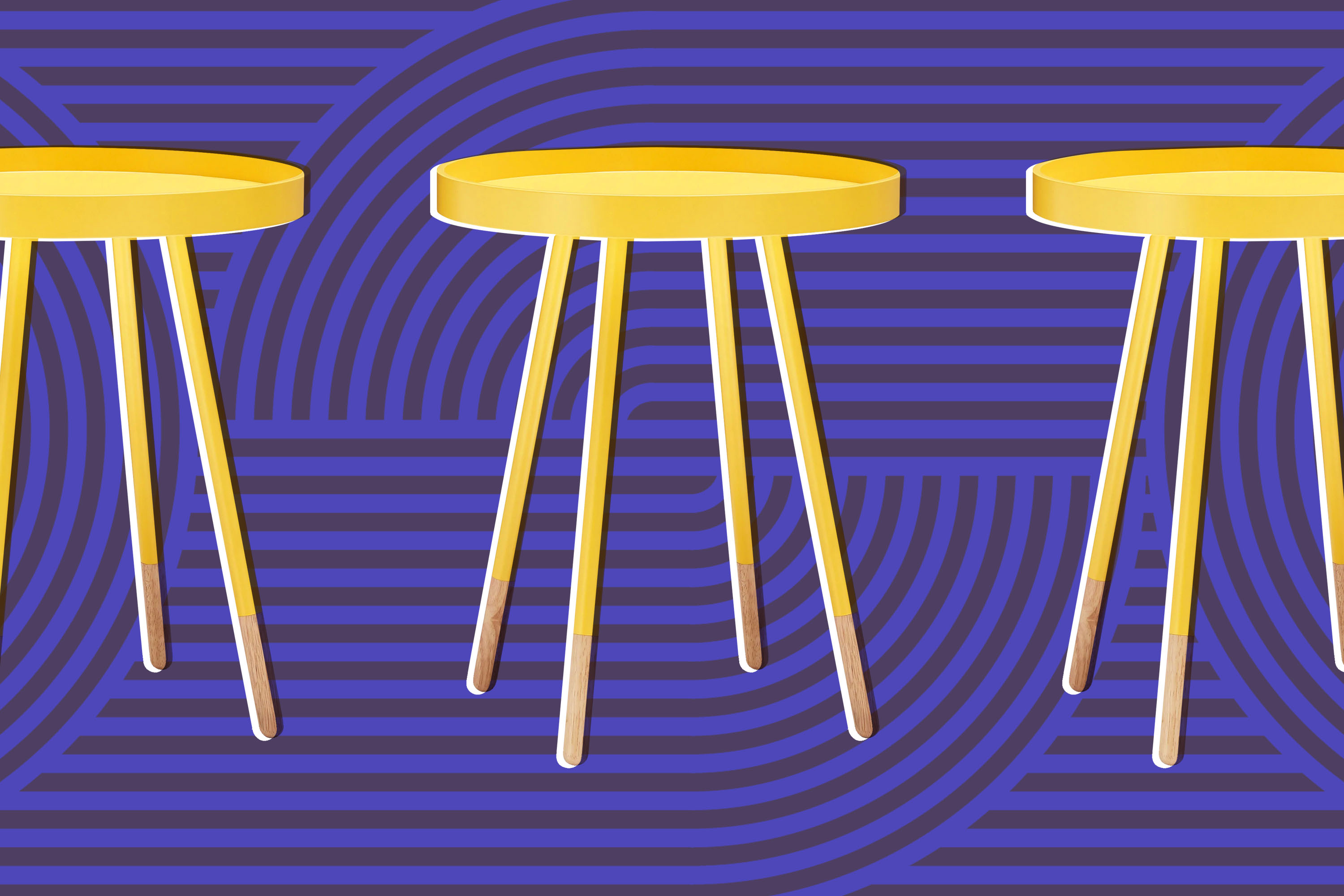 Yellow side table.