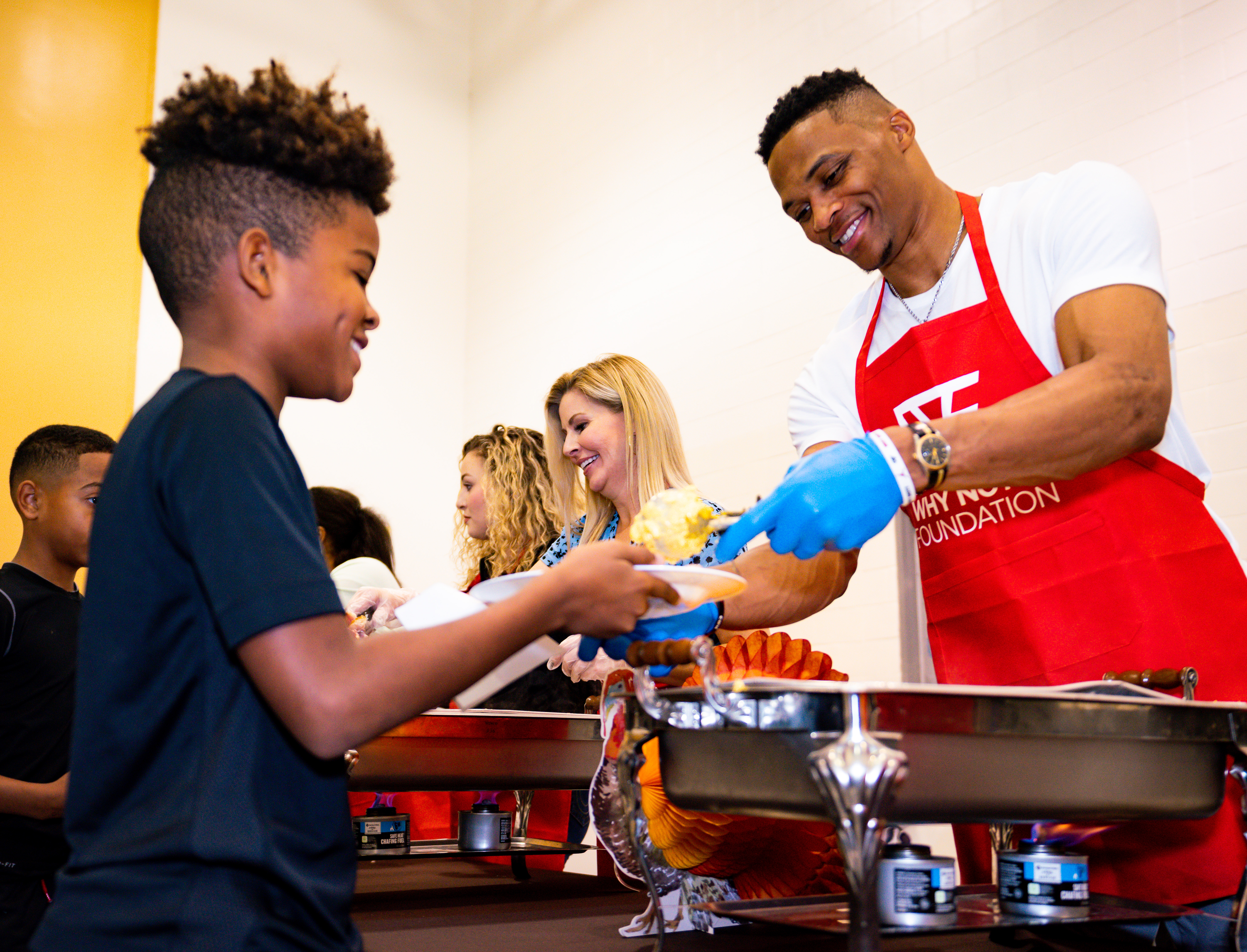 Russell Westbrook Why Not? Foundation Thanksgiving Dinner