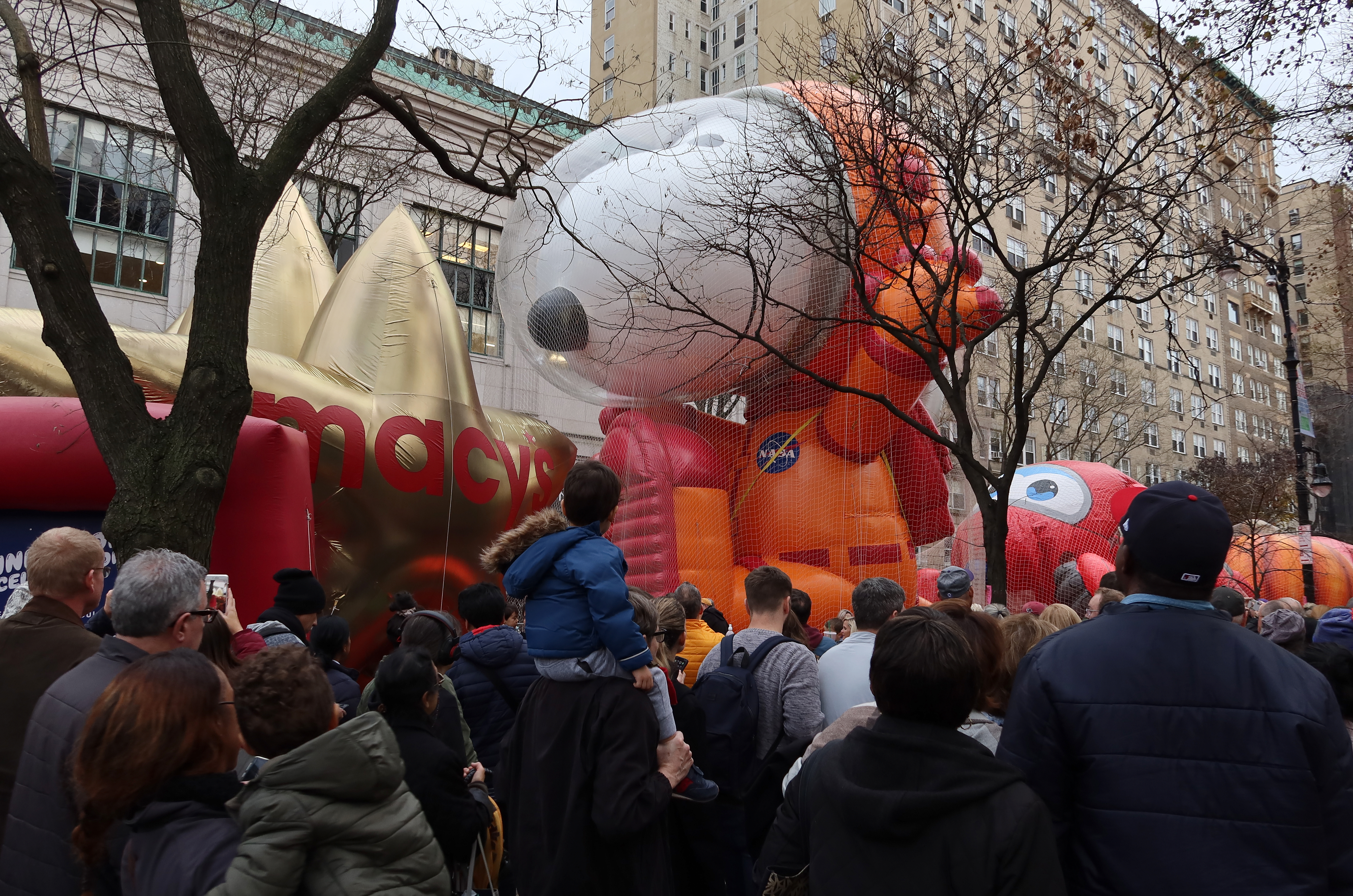Balloons Inflated for the Annual Macy's Thanksgiving Day Parade in New York City