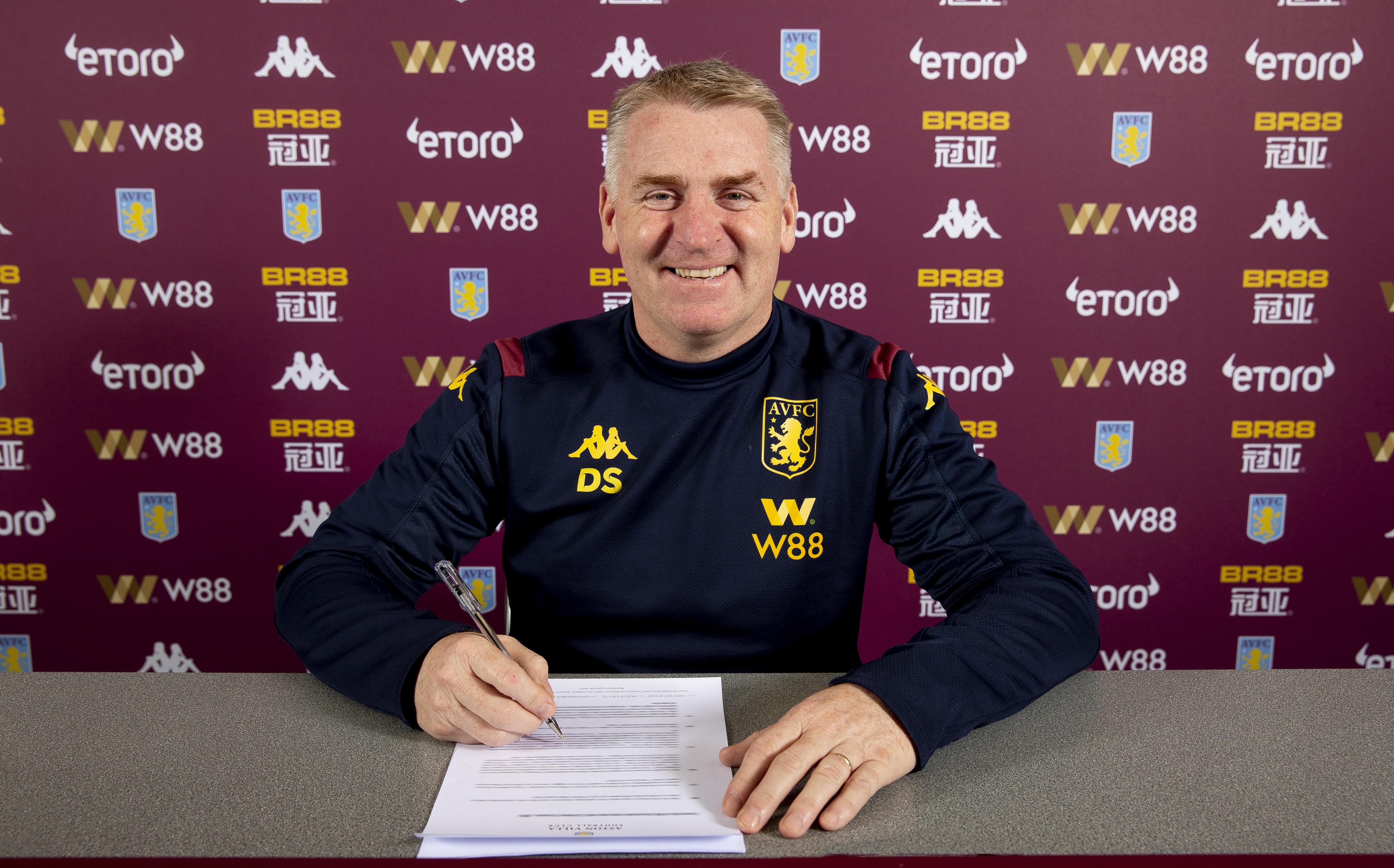 Dean Smith Signs a New Contract at Aston Villa