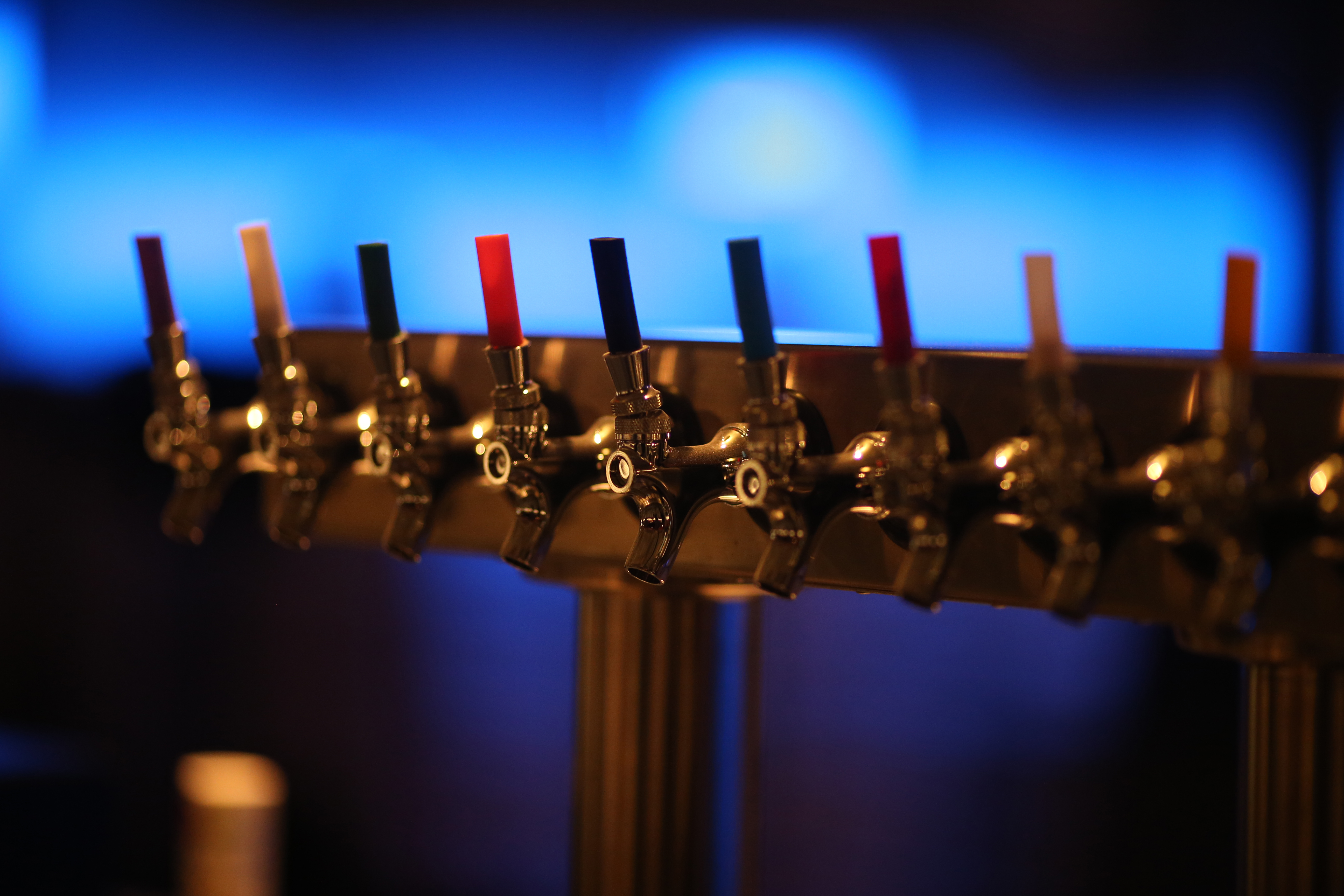 Details of the beer taps in the bar at the restored Palace Theater in St Paul Thursday February 23, 2017 in St. Paul, MN.] JERRY HOLT • jerry.holt@startribune.com