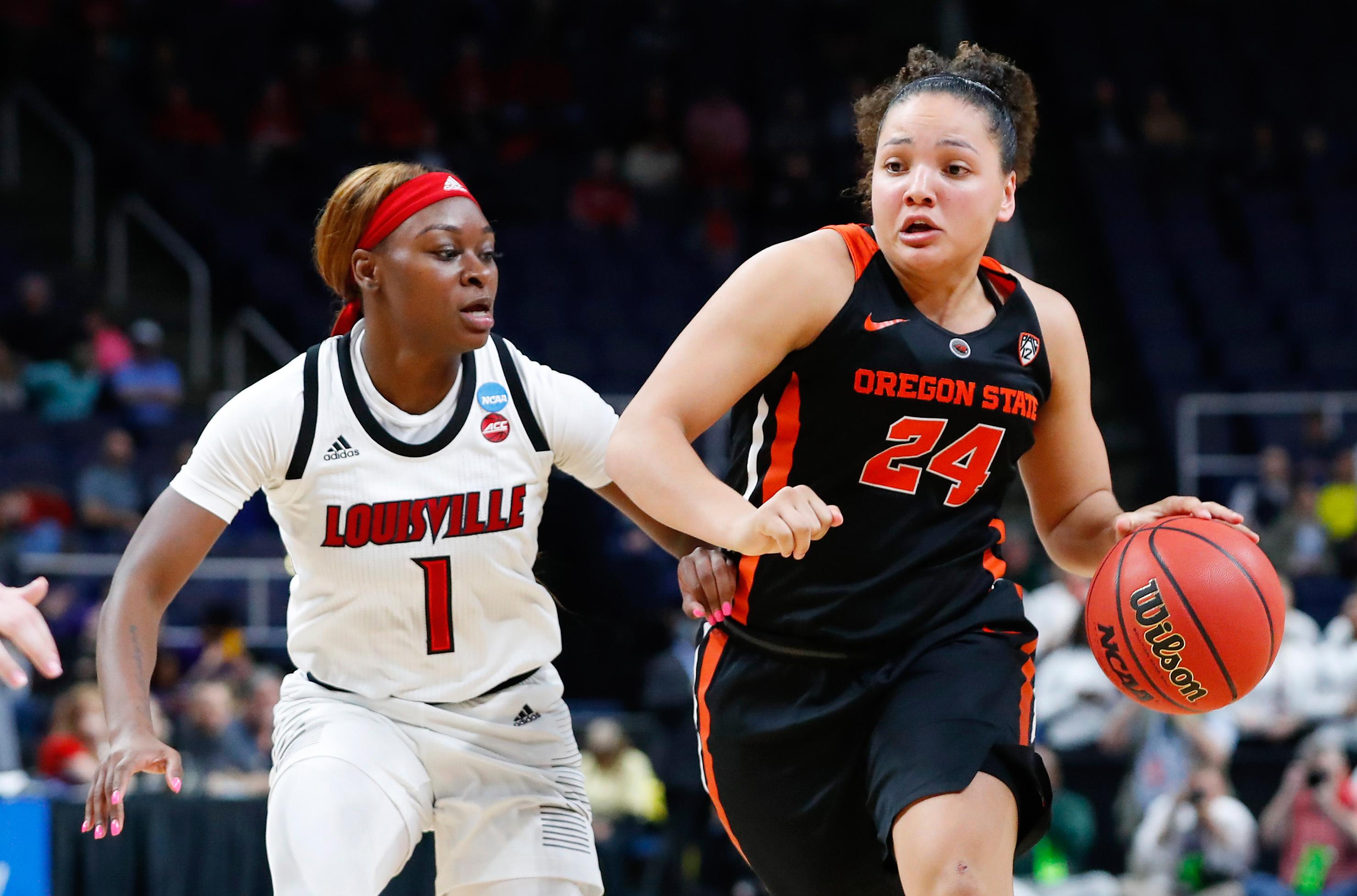 NCAA Womens Basketball: NCAA Tournament-Albany Regional-Oregon State vs Louisville