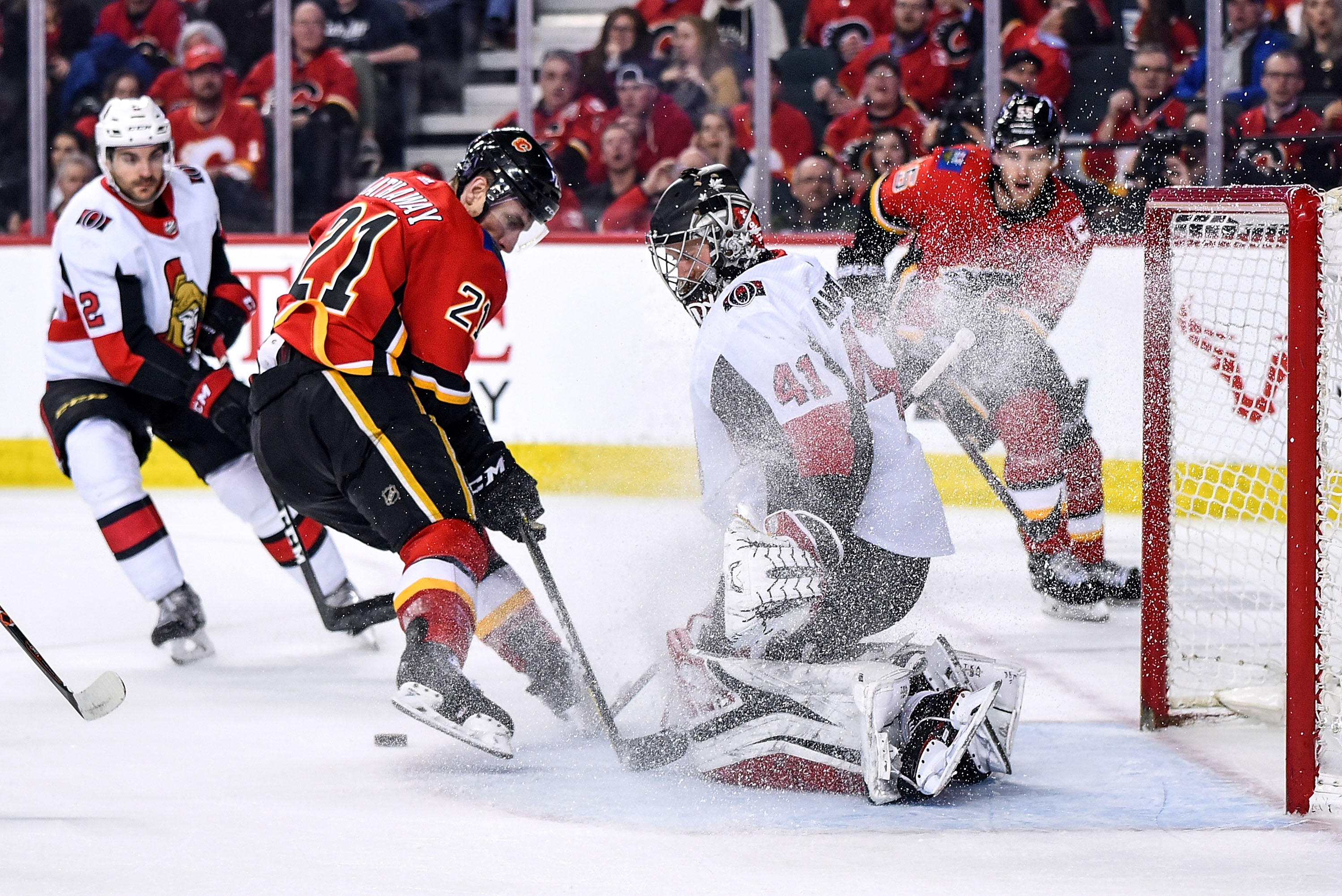 NHL: MAR 21 Senators at Flames
