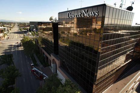Deseret News building in Salt Lake City, Utah.