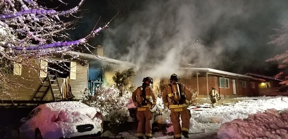 Fire crews battle a house fire in Kaysville on Friday, Nov. 29, 2019. Firefighters later discovered the body of a 76-year-old man inside. He was the sole occupant of the home