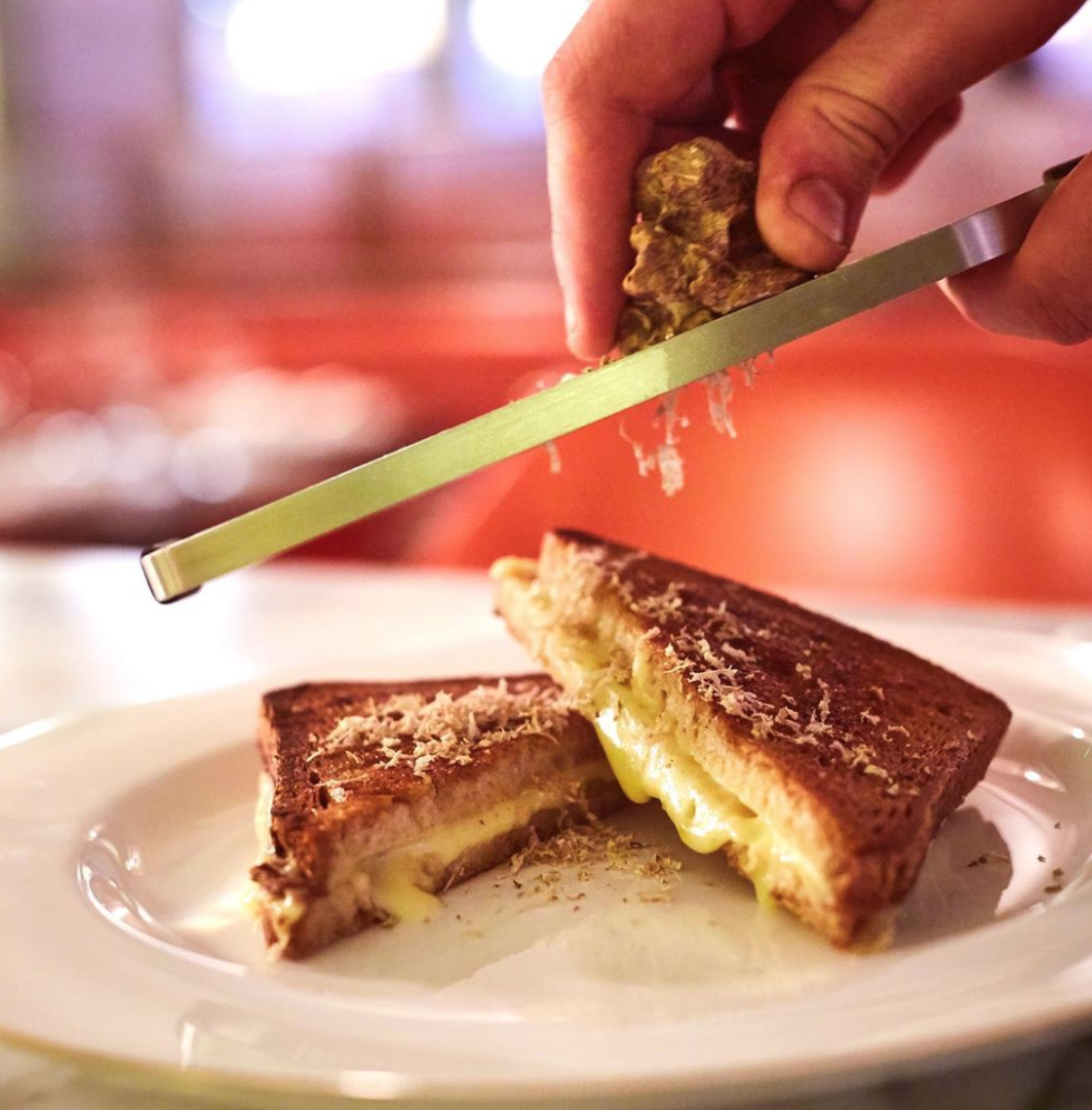 Cheese toastie at Fortnum and Mason's 45 Jermyn Street delighted Times critic Marina O'Loughlin