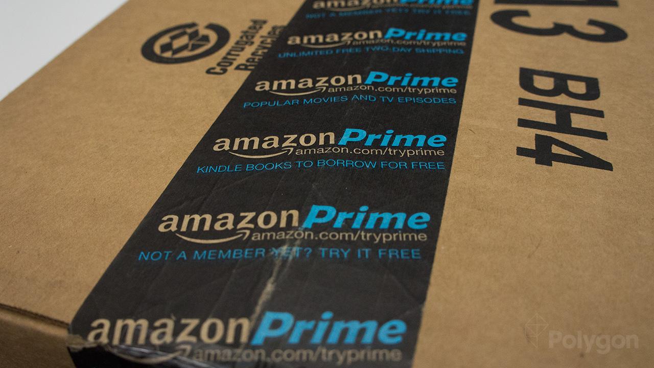 Amazon Prime box stock photo