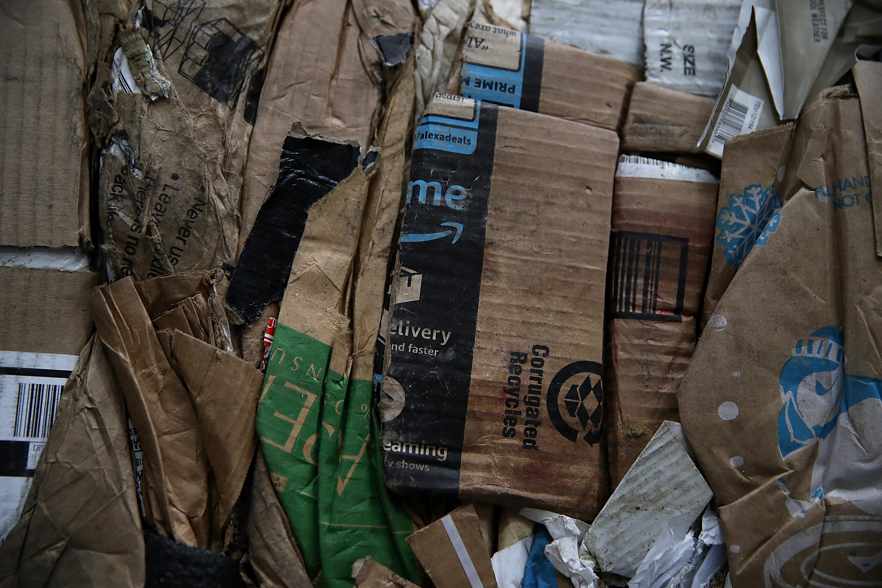 The 'Amazon effect' is flooding a struggling recycling system with cardboard