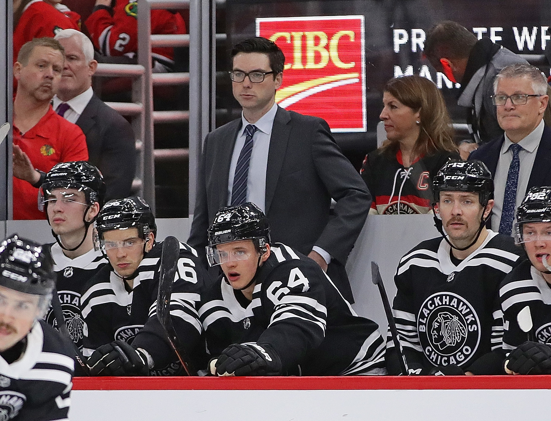 Jeremy Colliton will oversee a bizarre lineup Monday night for the Blackhawks.