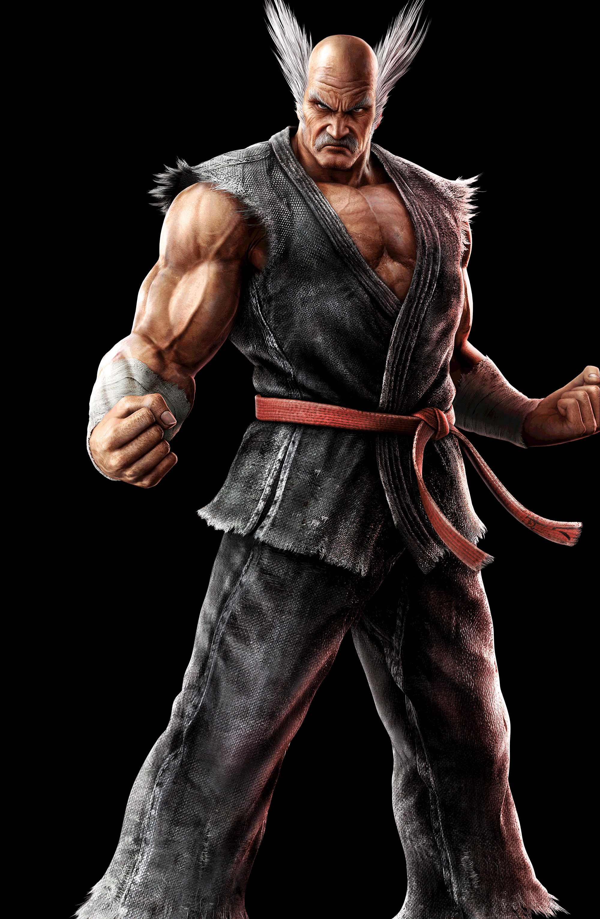 Tekken character Heihachi strikes a fighting pose