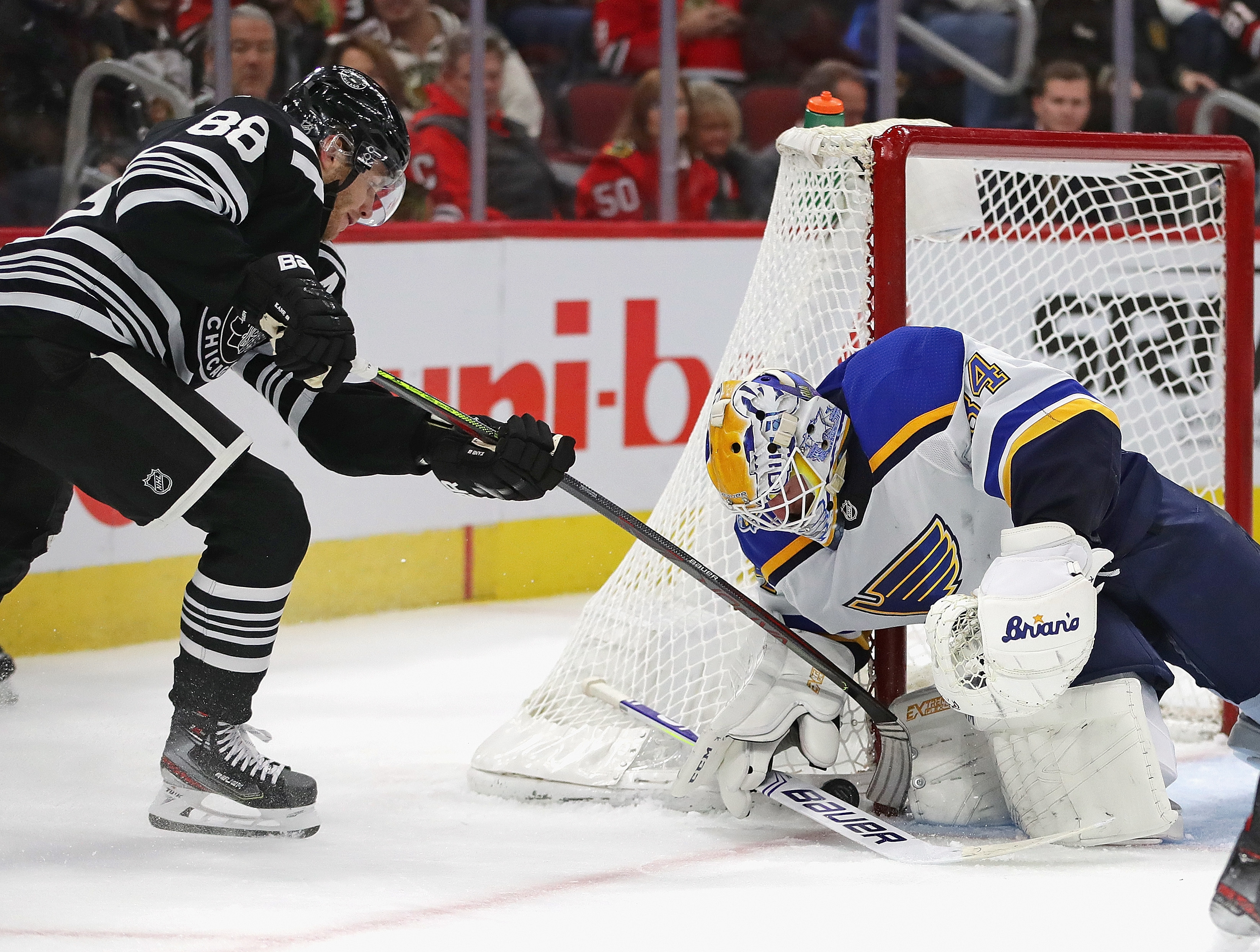 The Blackhawks recorded 38 shots on goal but couldn't get one past Jake Allen.