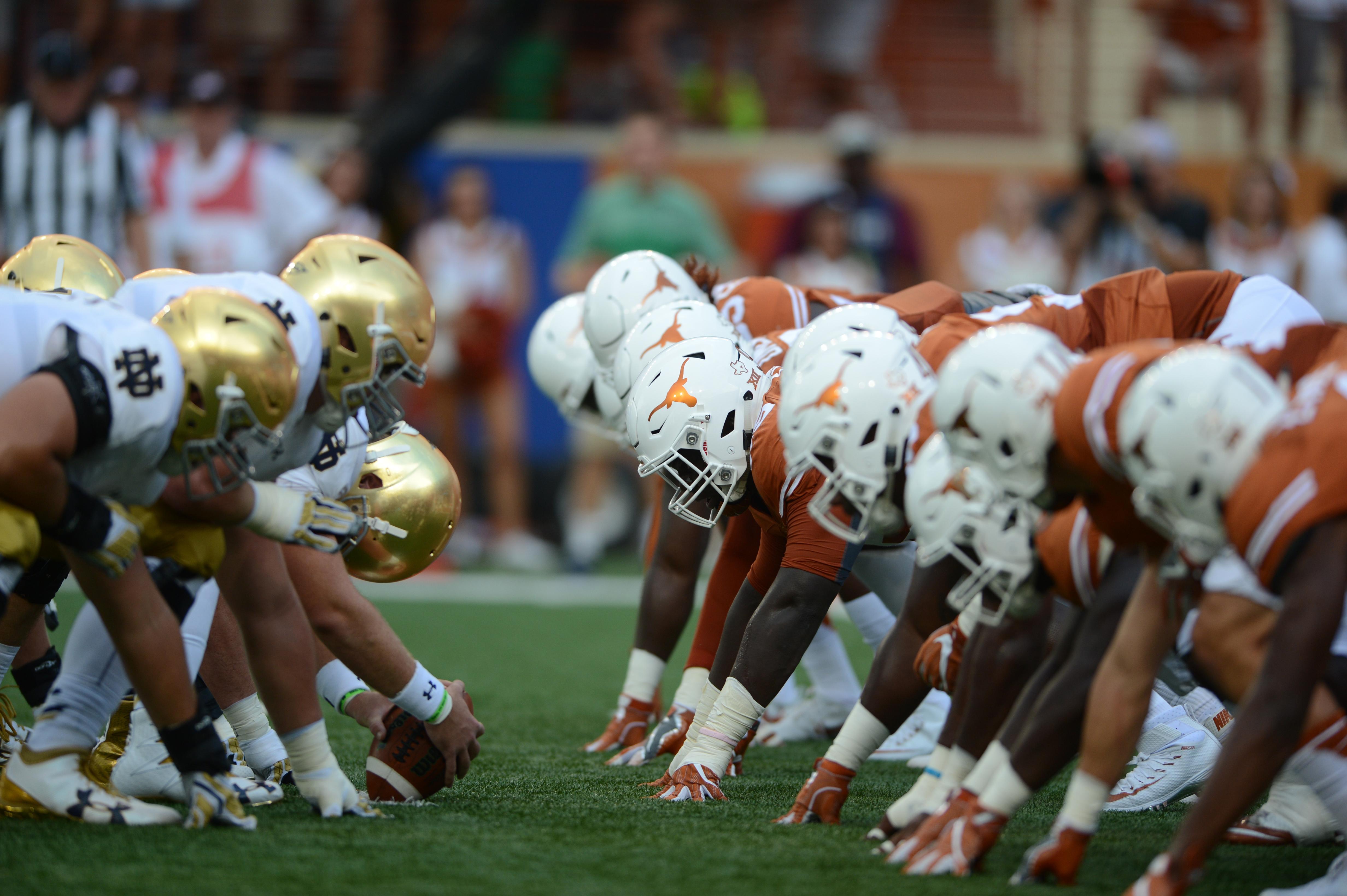 NCAA FOOTBALL: SEP 04 Notre Dame at Texas