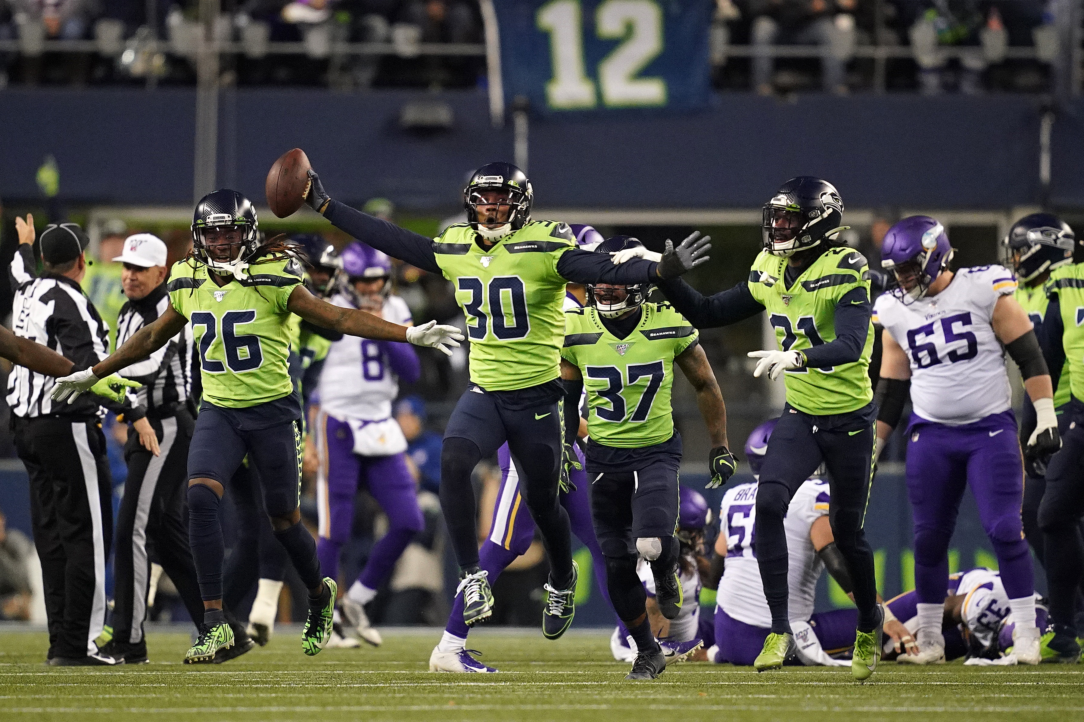 The Minnesota Vikings lose on the road to the Seattle Seahawks