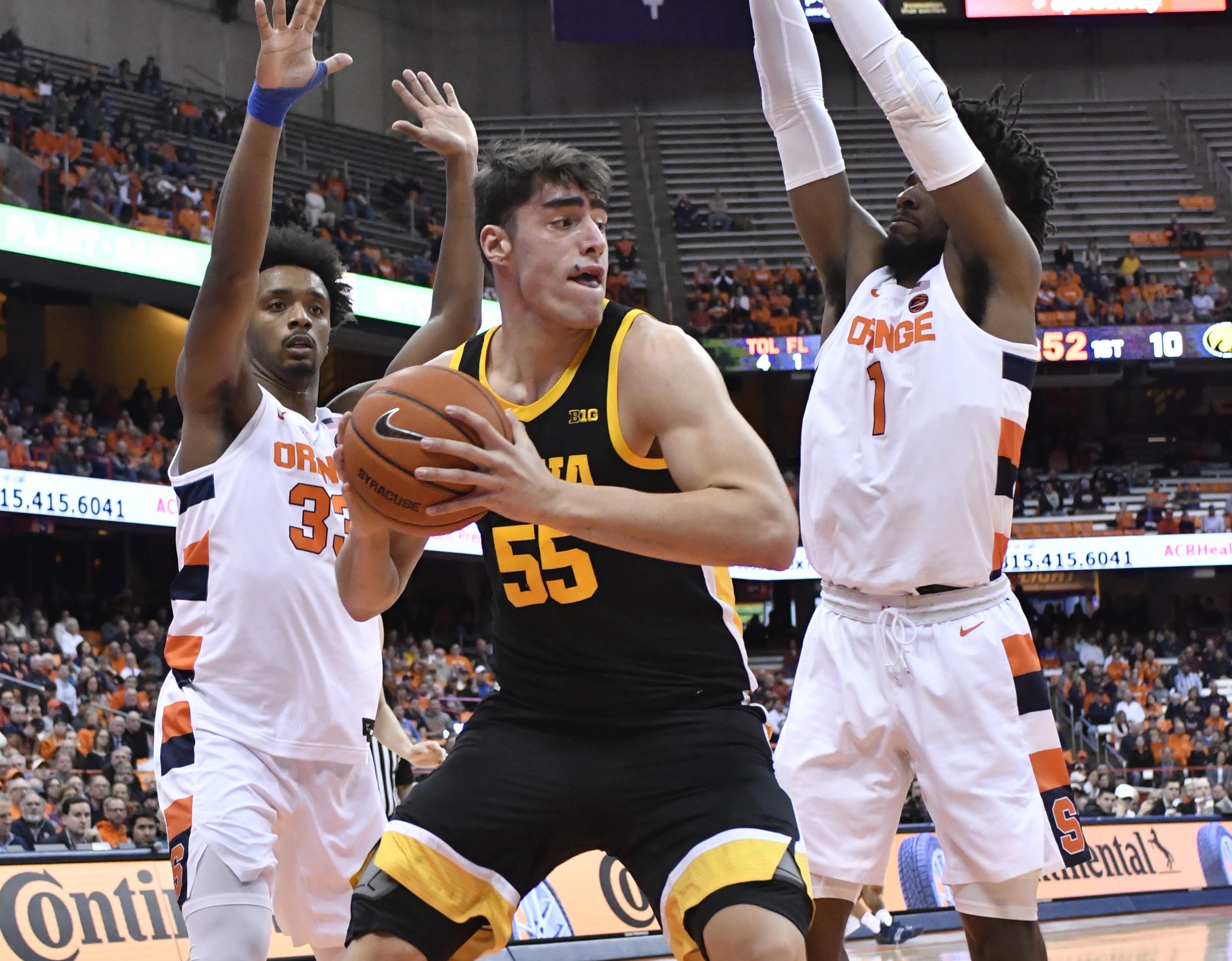 NCAA Basketball: Iowa at Syracuse