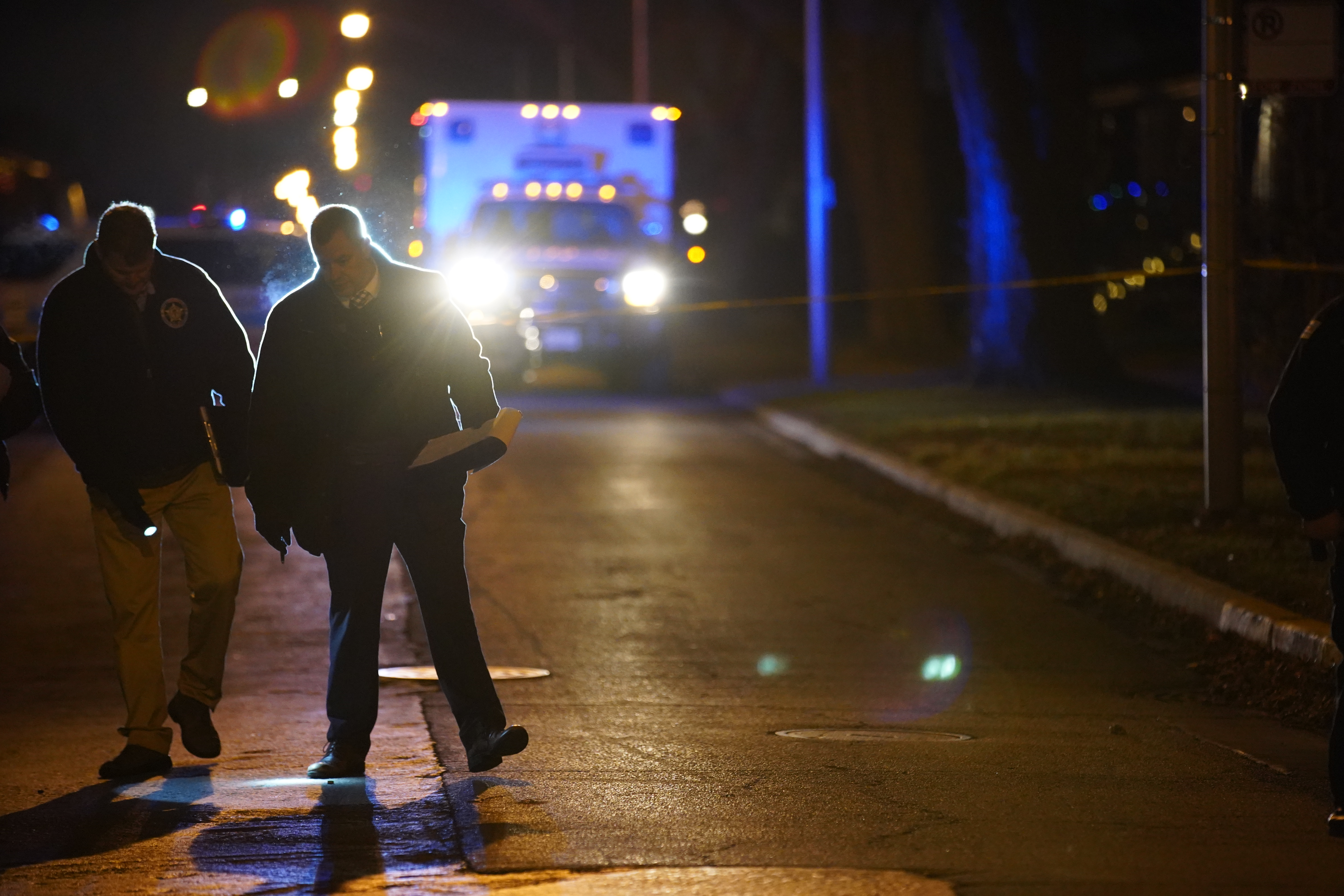 Chicago police investigate the scene of a fatal shooting in Sleepy Hollow on the Southwest Side.