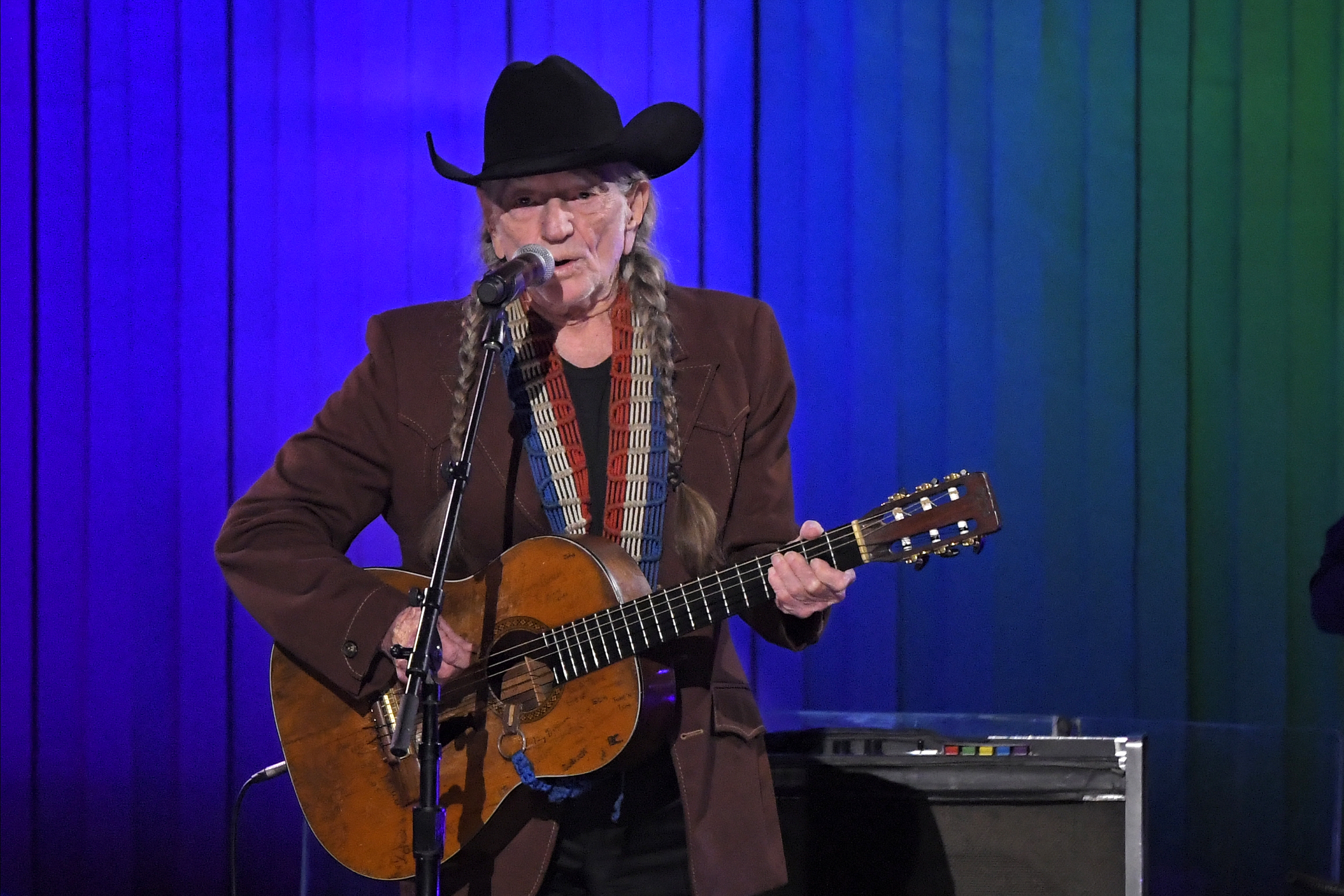 Willie Nelson performs at the CMA Awards ceremony earlier this month in Nashville, Tennessee.